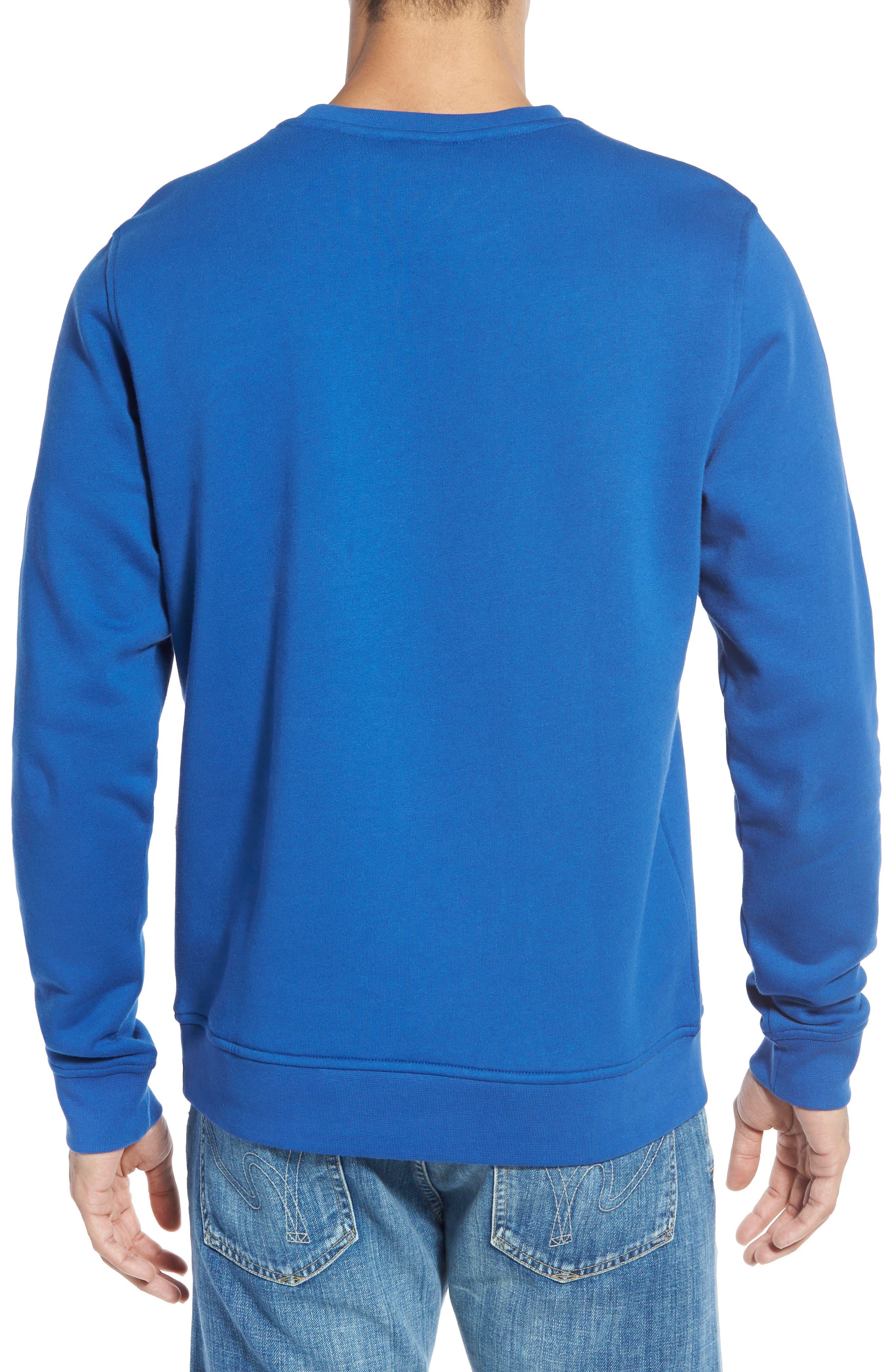LACOSTE, 'Sport' Crewneck Sweatshirt, Alternate thumbnail 2, color, NAVY