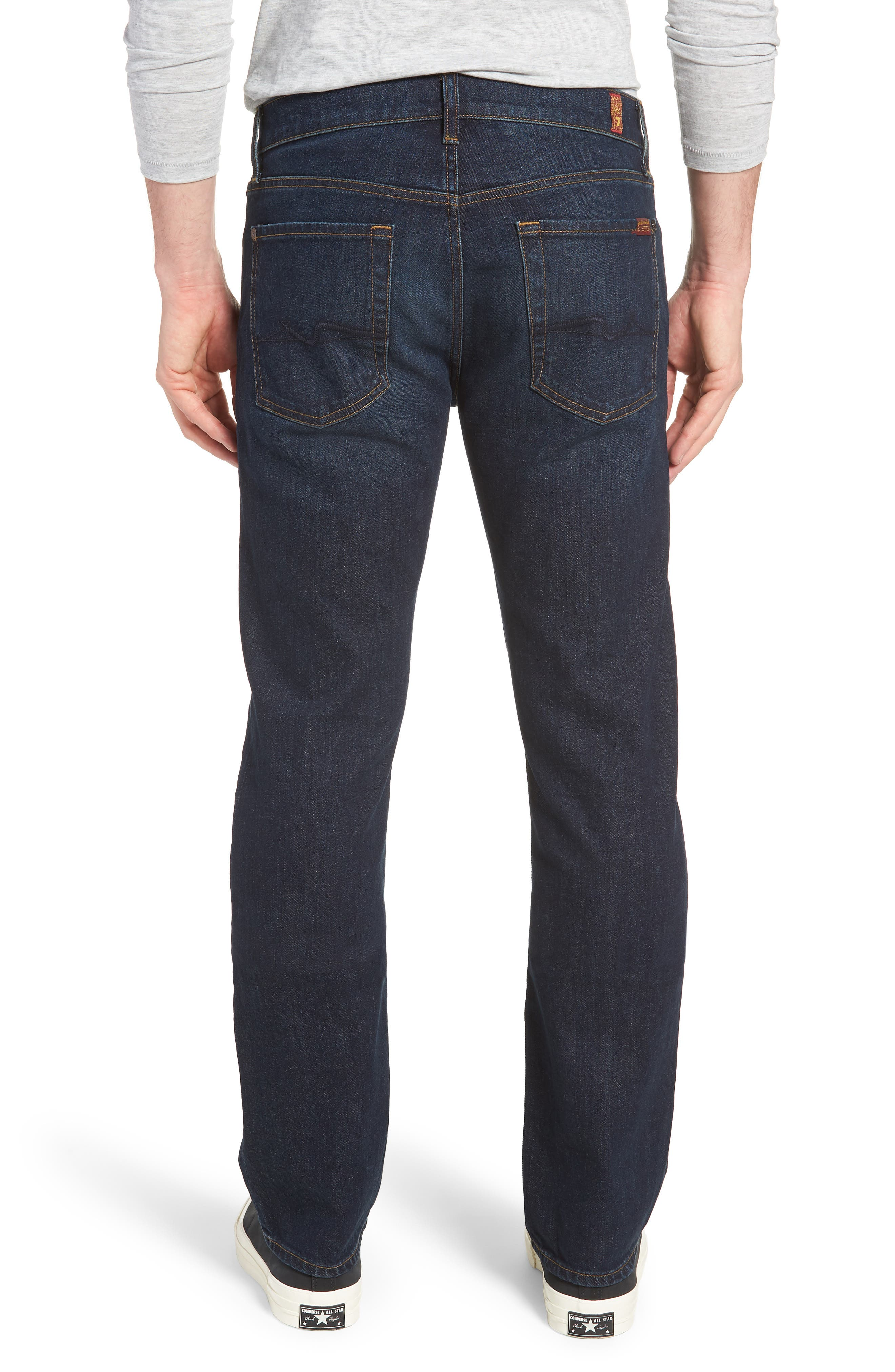 7 FOR ALL MANKIND<SUP>®</SUP>, Standard Straight Leg Jeans, Alternate thumbnail 2, color, ABERDEEN