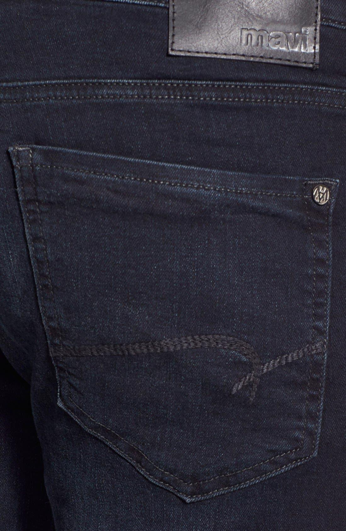 MAVI JEANS, Matt Relaxed Fit Jeans, Alternate thumbnail 8, color, INK WILLIAMSBURG