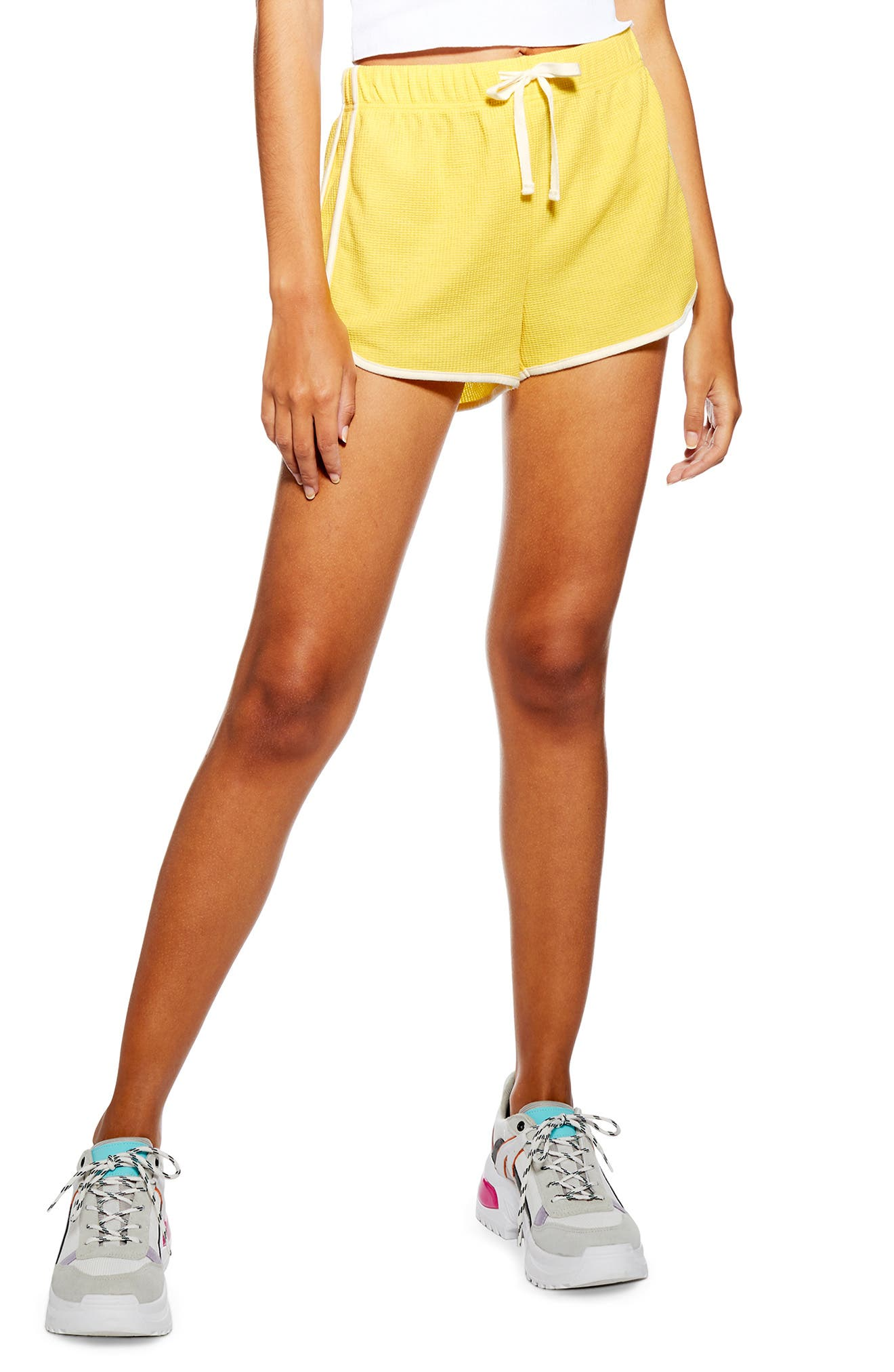 Women's Topshop Waffle Weave Runner Shorts