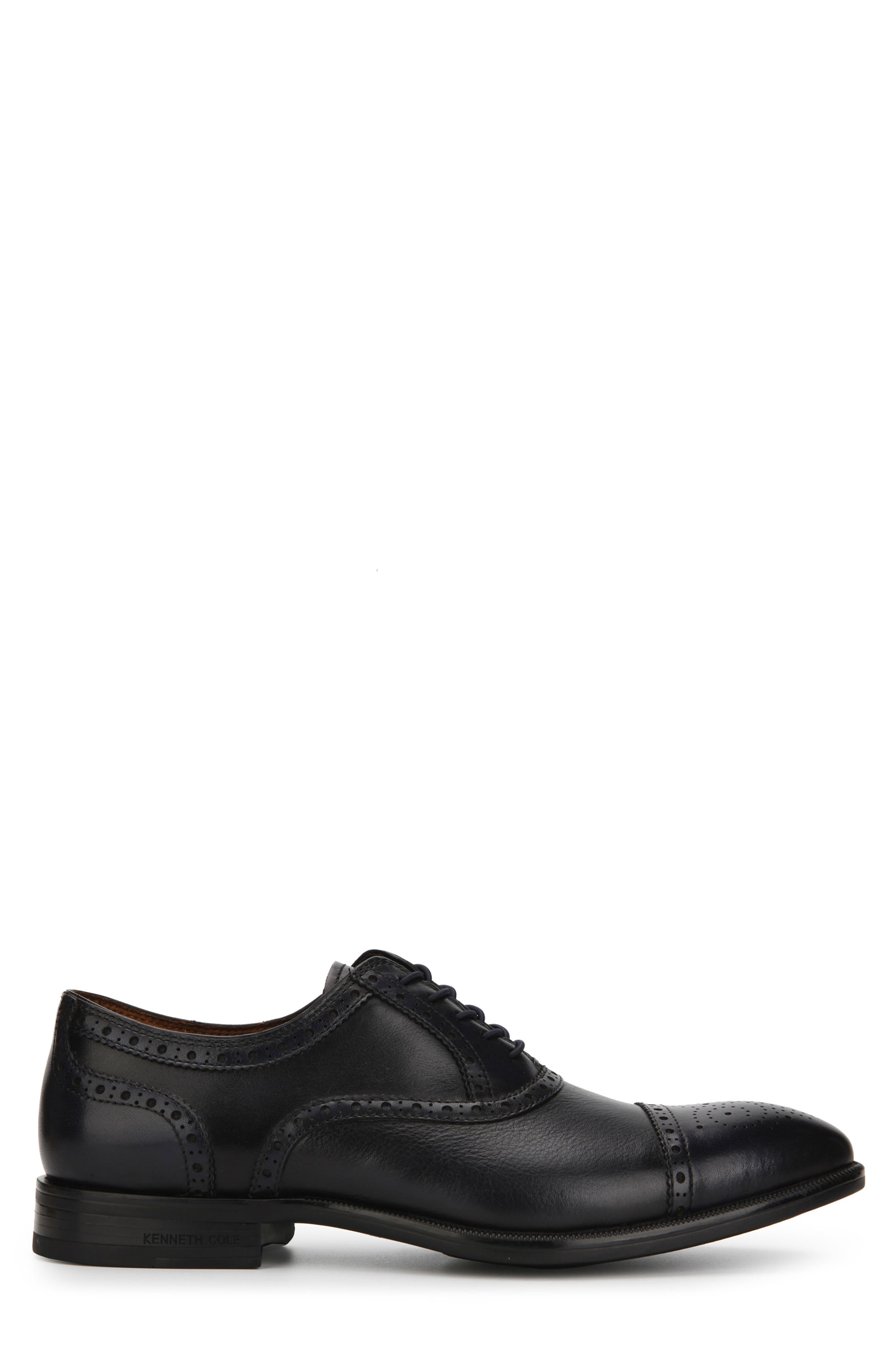 KENNETH COLE NEW YORK, Futurepod Cap Toe Oxford, Alternate thumbnail 2, color, NAVY TUMBLED LEATHER