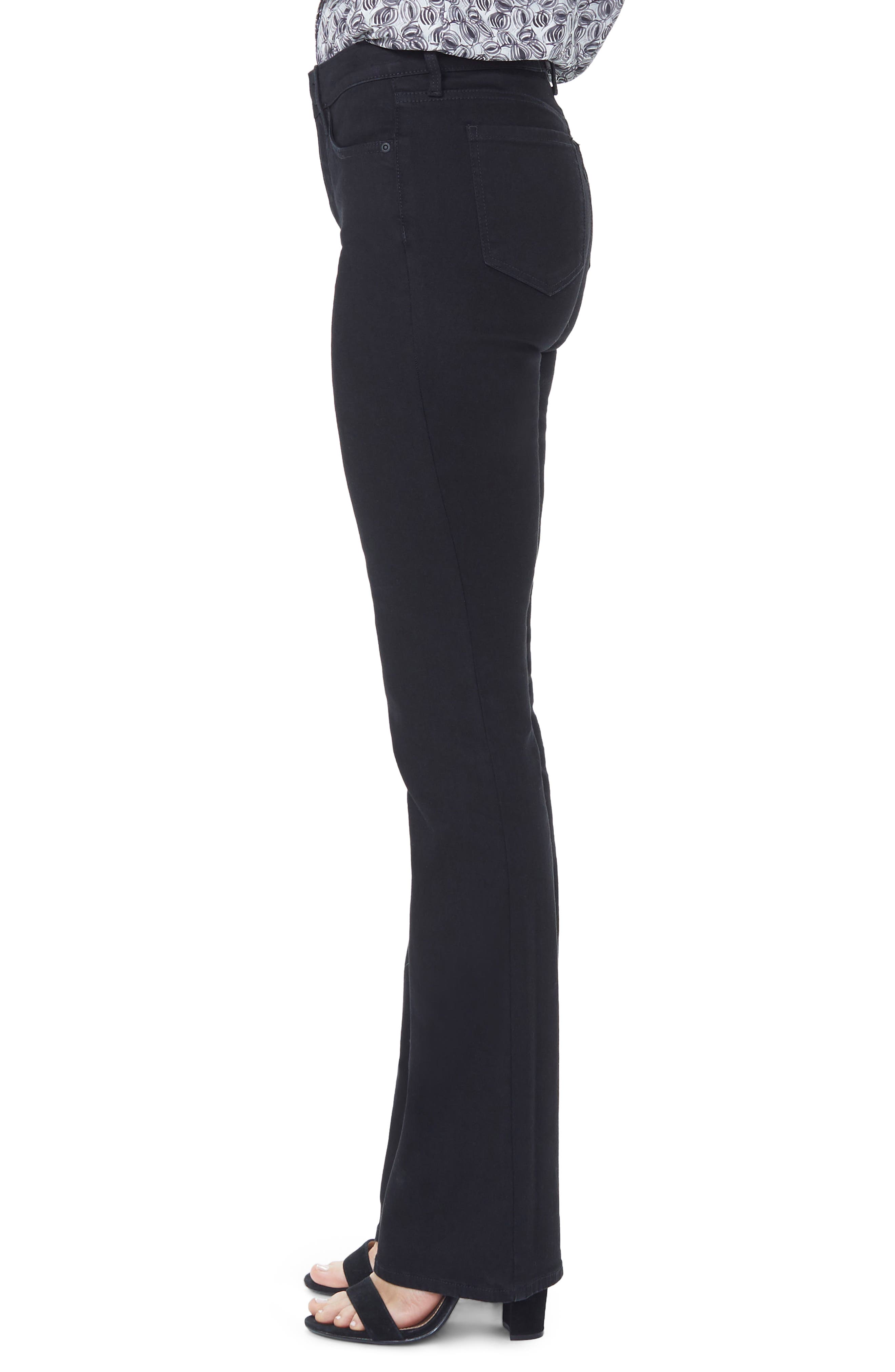 NYDJ, Barbara High Waist Stretch Bootcut Jeans, Alternate thumbnail 4, color, BLACK