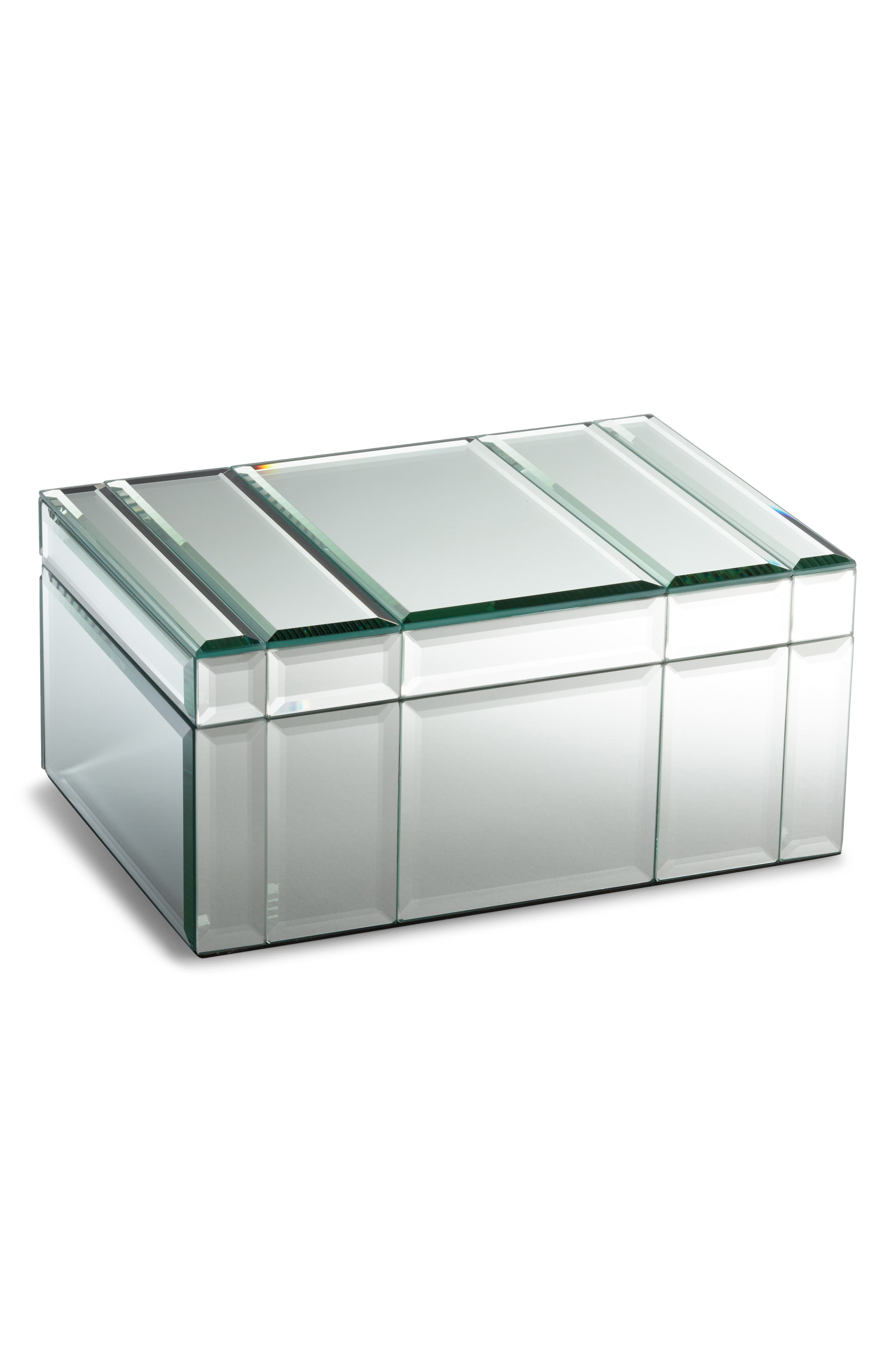 NORDSTROM, Medium Mirrored Jewelry Box, Main thumbnail 1, color, 040