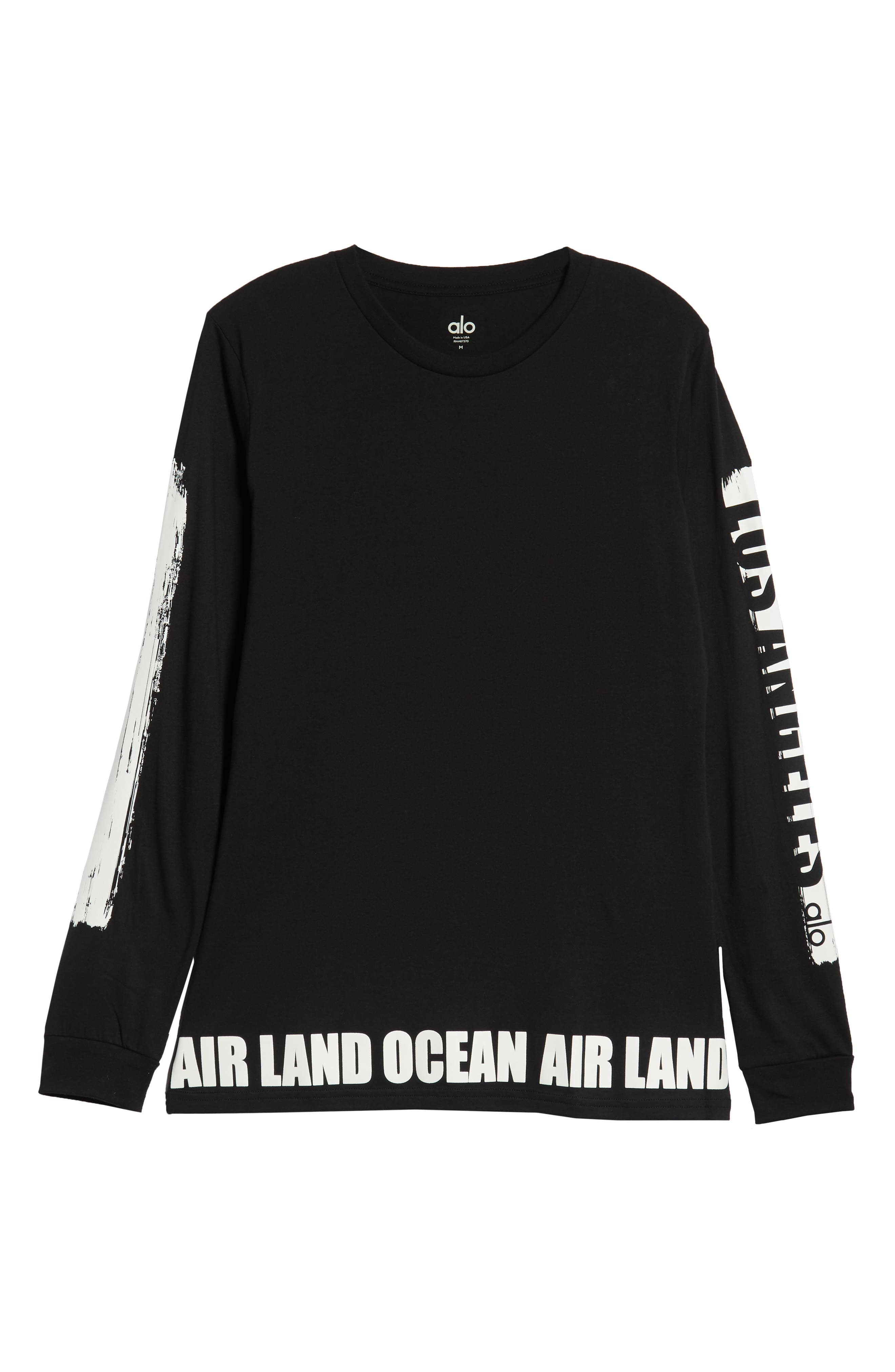 ALO, Fairfax Long Sleeve T-Shirt, Alternate thumbnail 6, color, LOS ANGELES