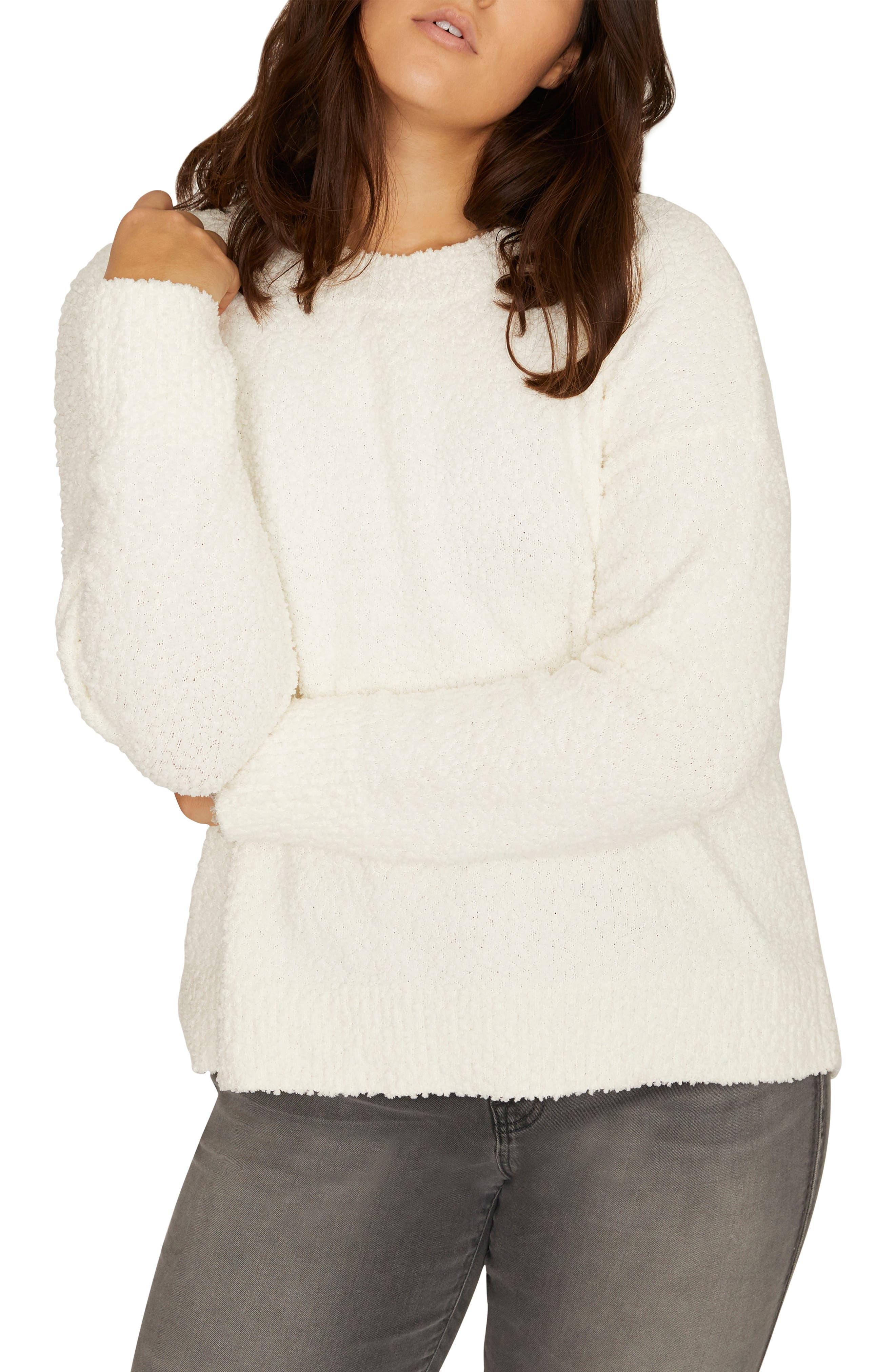 SANCTUARY, Teddy Pullover, Main thumbnail 1, color, WINTER WHITE