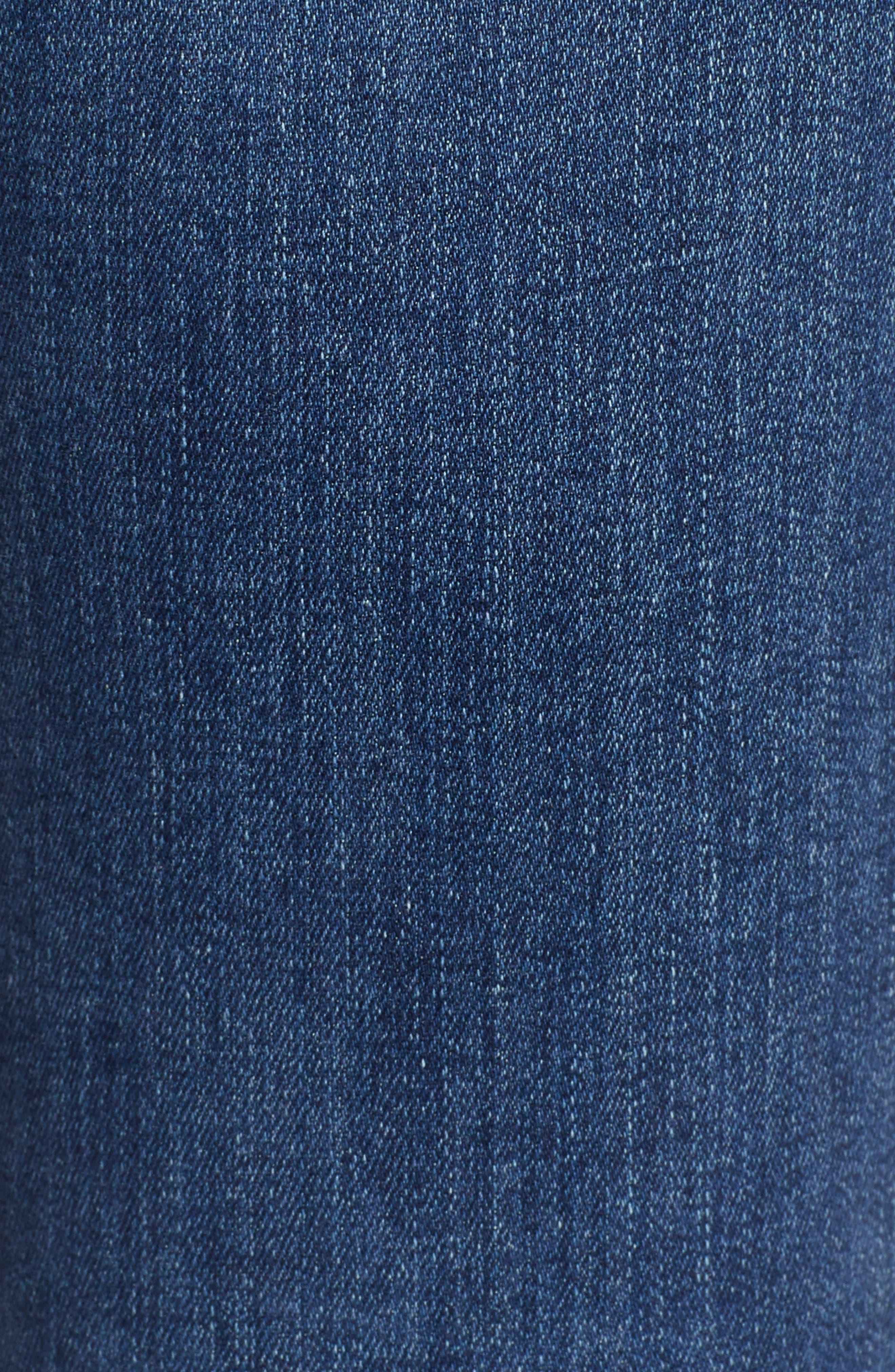 AG, Mari High Waist Slim Straight Leg Jeans, Alternate thumbnail 6, color, 05 YEAR BLUE ESSENCE