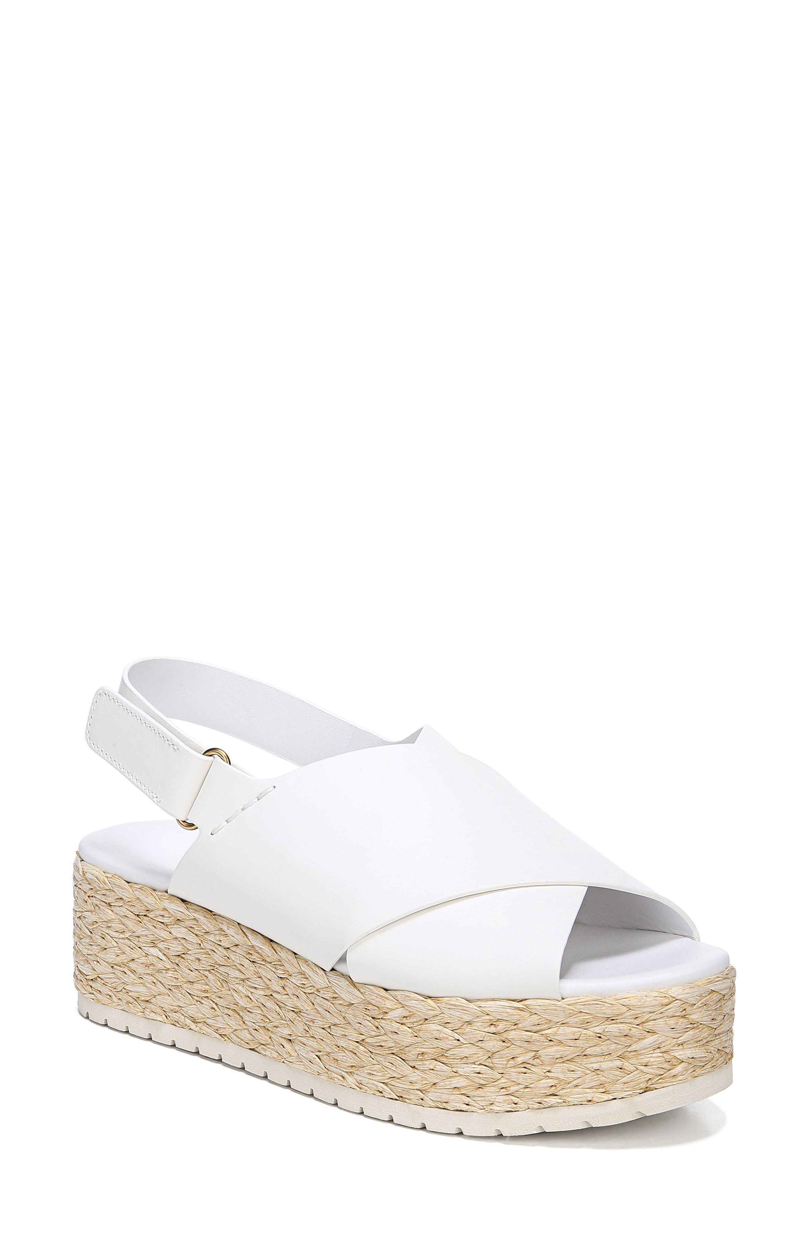 VINCE Jesson Espadrille Slingback Sandal, Main, color, OFF WHITE