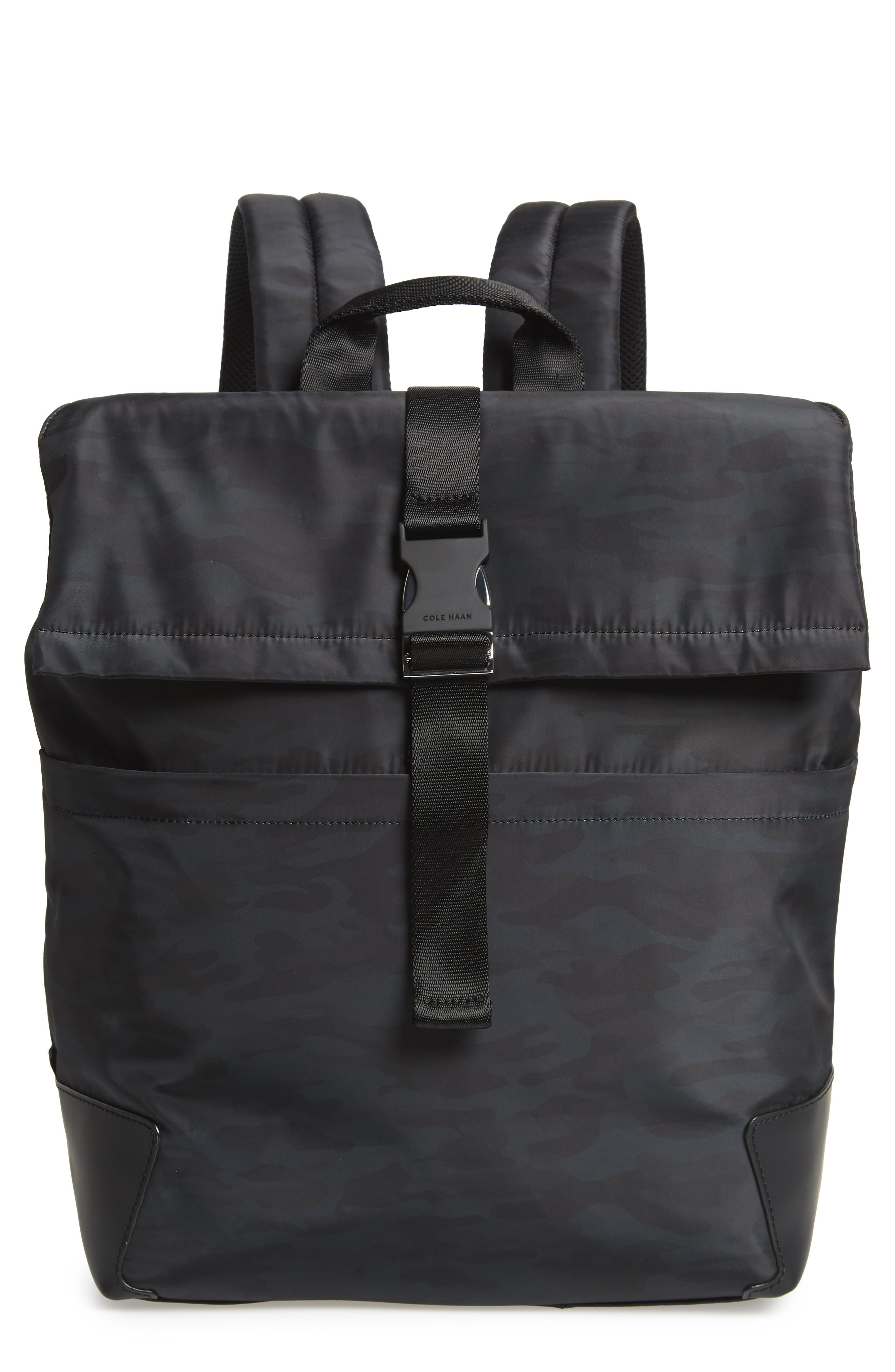 COLE HAAN Sawyer Laptop Backpack, Main, color, CAMO