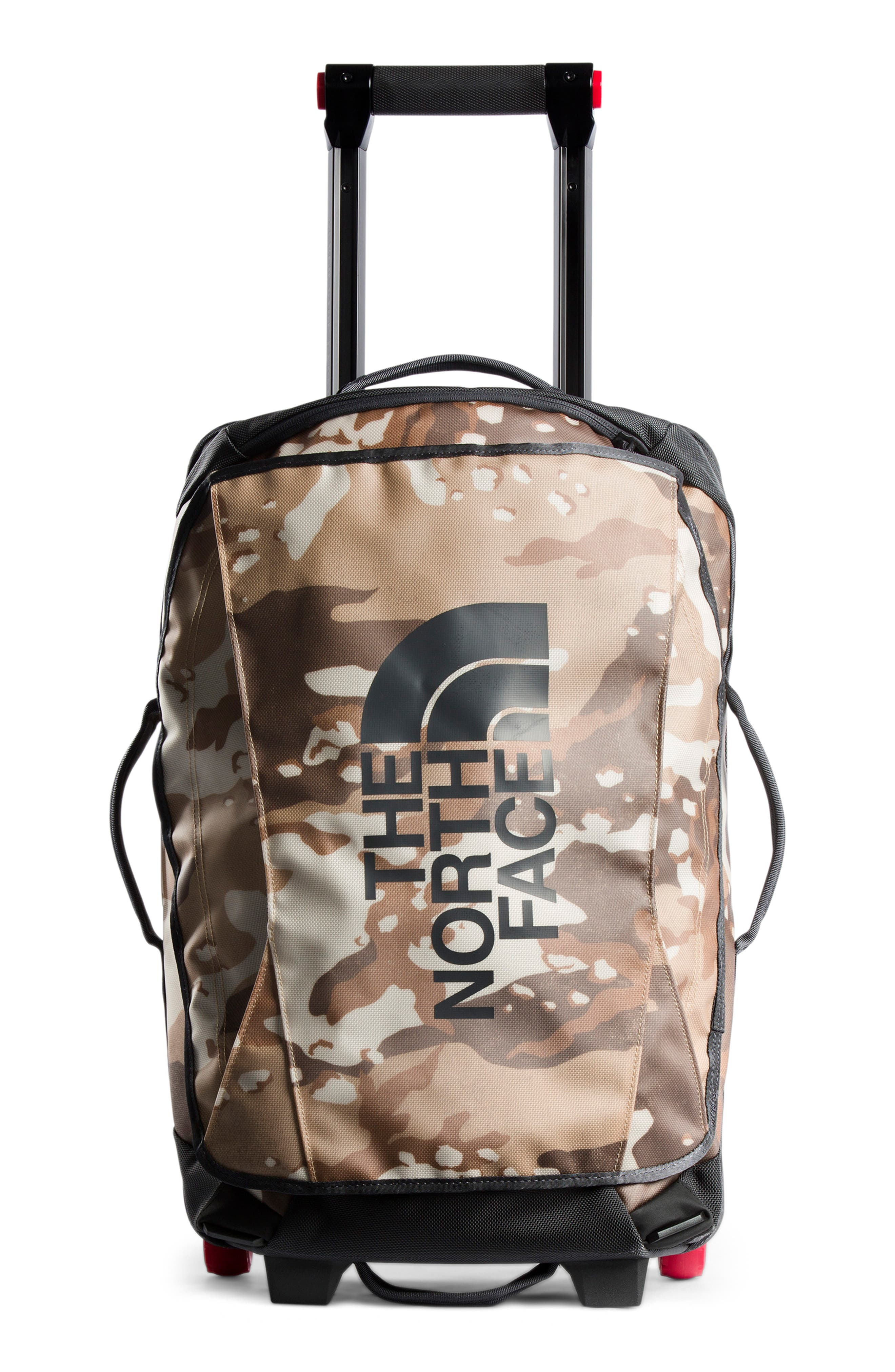 THE NORTH FACE, Rolling Thunder 21-Inch Wheeled Carry-On, Main thumbnail 1, color, KHAKI DESERT/ GREY