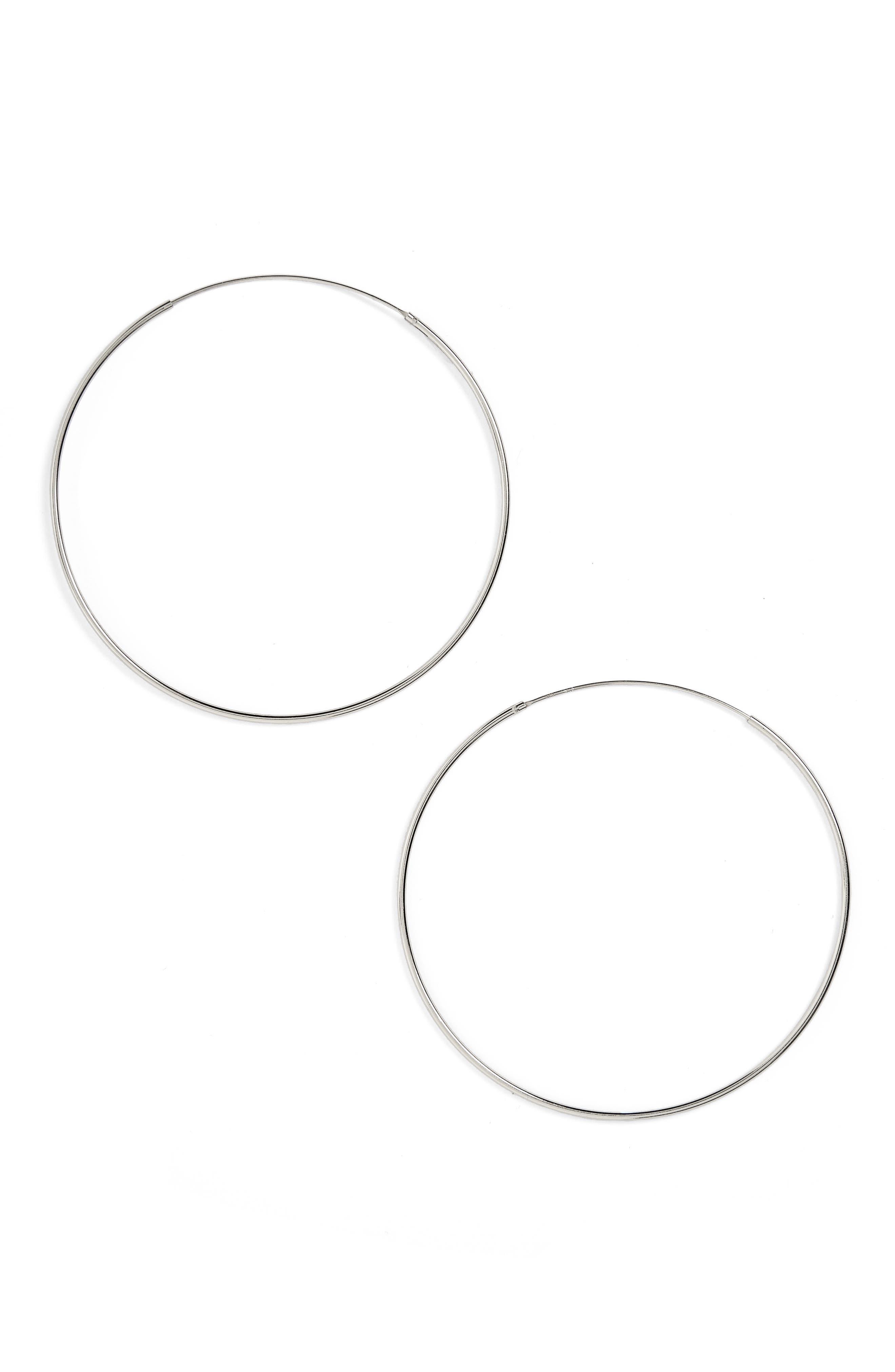 ARGENTO VIVO, Endless Hoop Earrings, Main thumbnail 1, color, 040