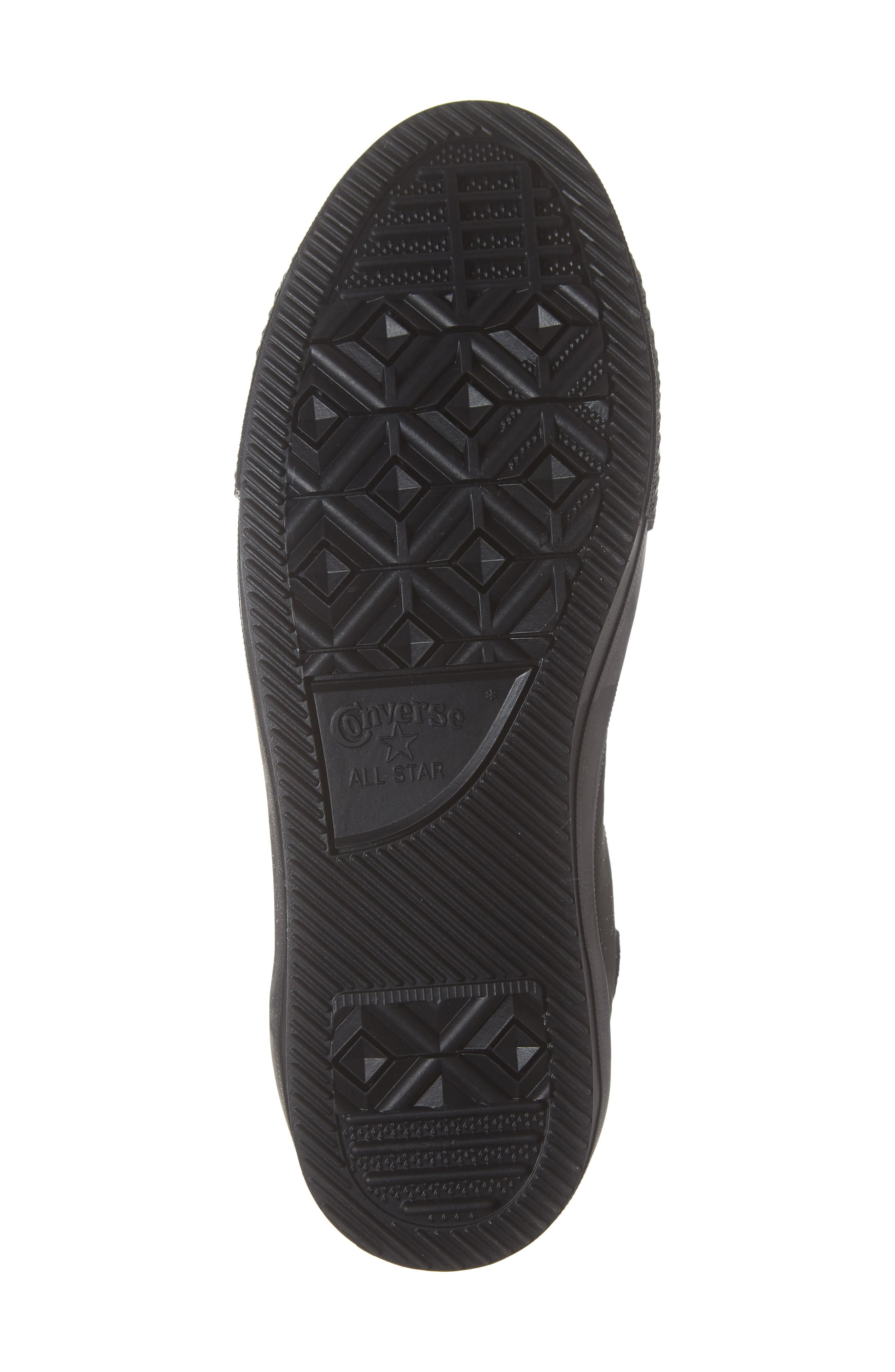 CONVERSE, Chuck Taylor<sup>®</sup> All Star<sup>®</sup> Counter Climate Waterproof Sneaker, Alternate thumbnail 6, color, BLACK/ BLACK/ BLACK