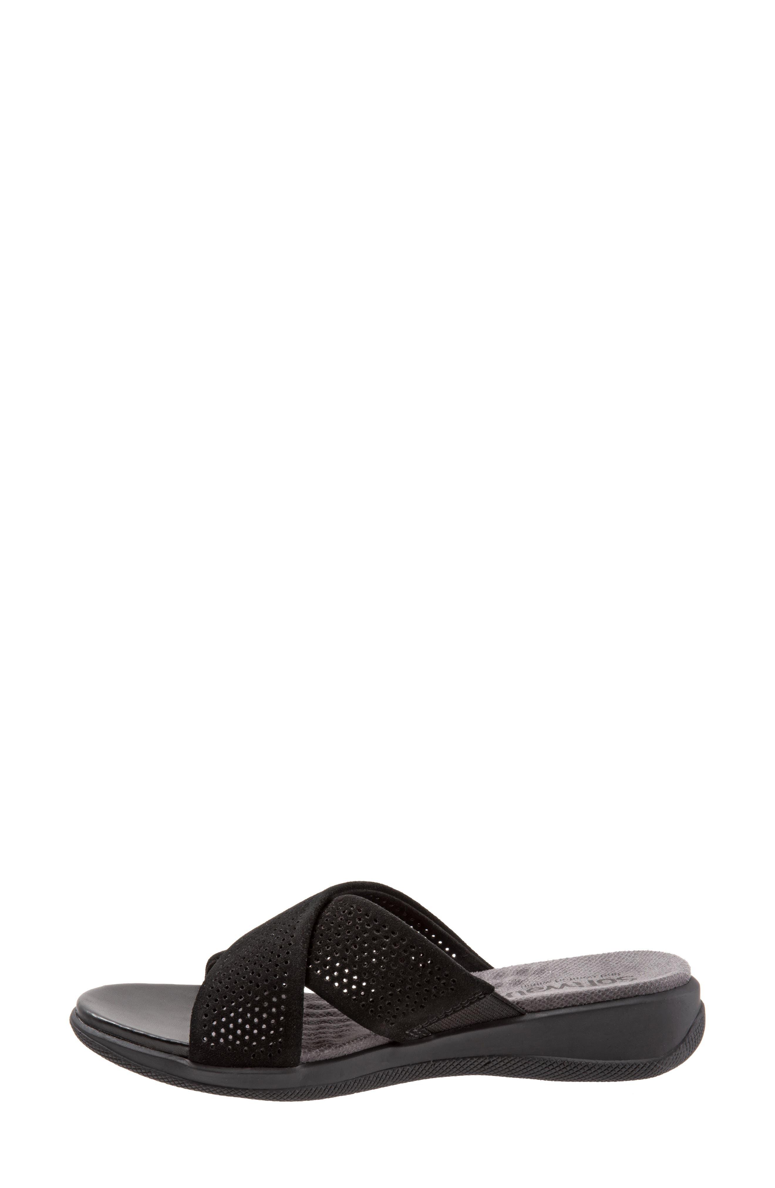 SOFTWALK<SUP>®</SUP>, 'Tillman' Leather Cross Strap Slide Sandal, Alternate thumbnail 8, color, 002