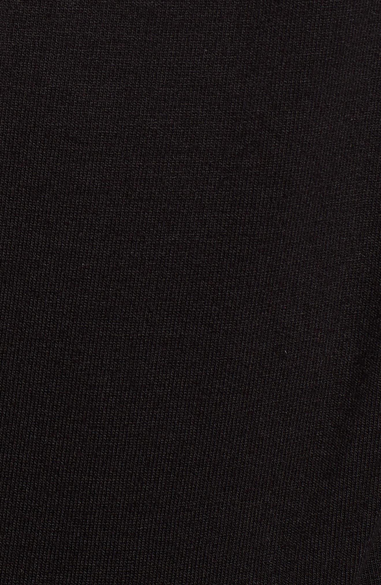 HALOGEN<SUP>®</SUP>, Waist Detail Sleeveless Top, Alternate thumbnail 5, color, BLACK