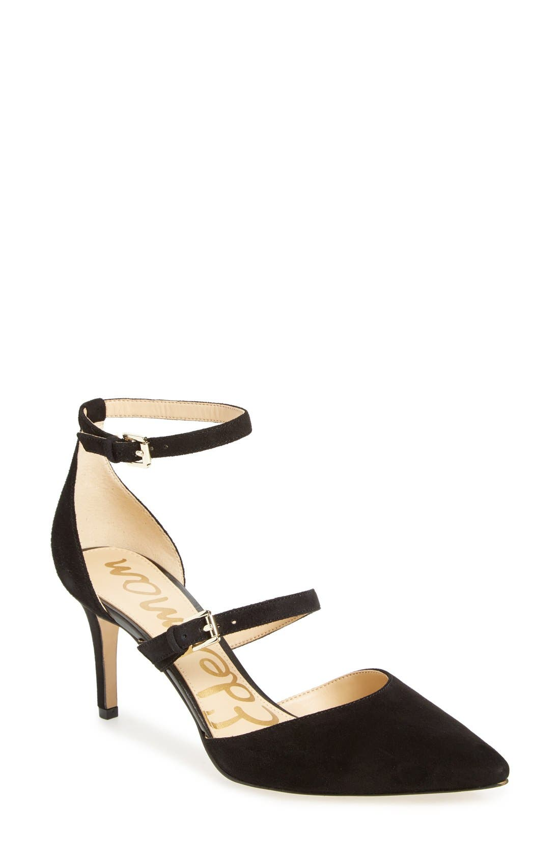 SAM EDELMAN, 'Thea' Strappy Pump, Main thumbnail 1, color, 001