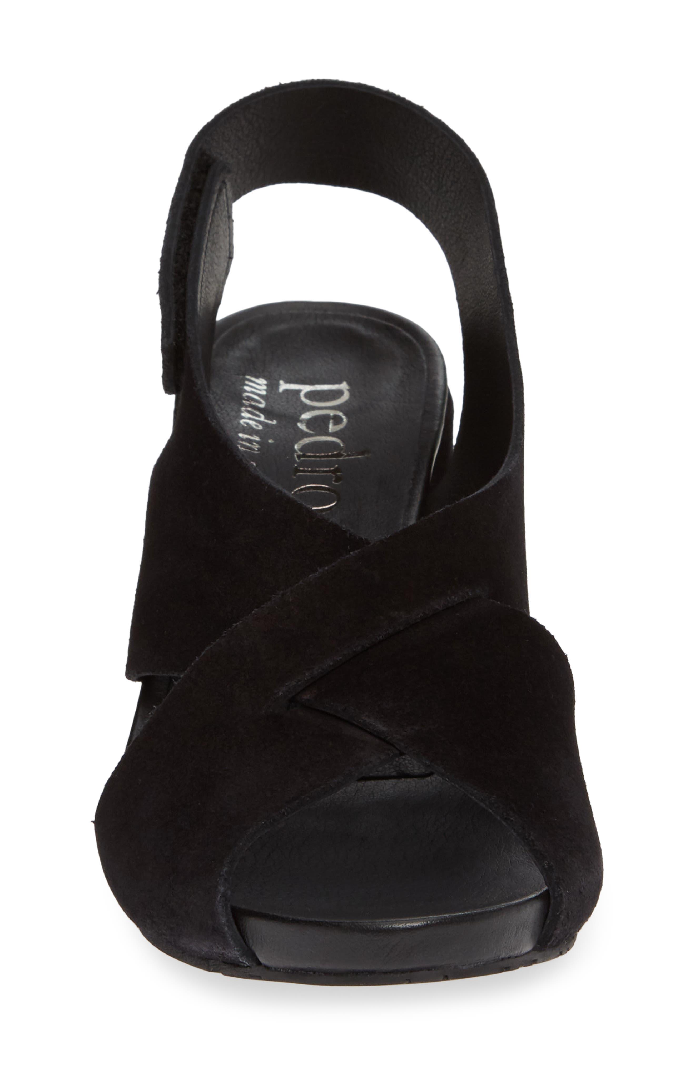 PEDRO GARCIA, Wiela Slingback Sandal, Alternate thumbnail 4, color, BLACK CASTORO