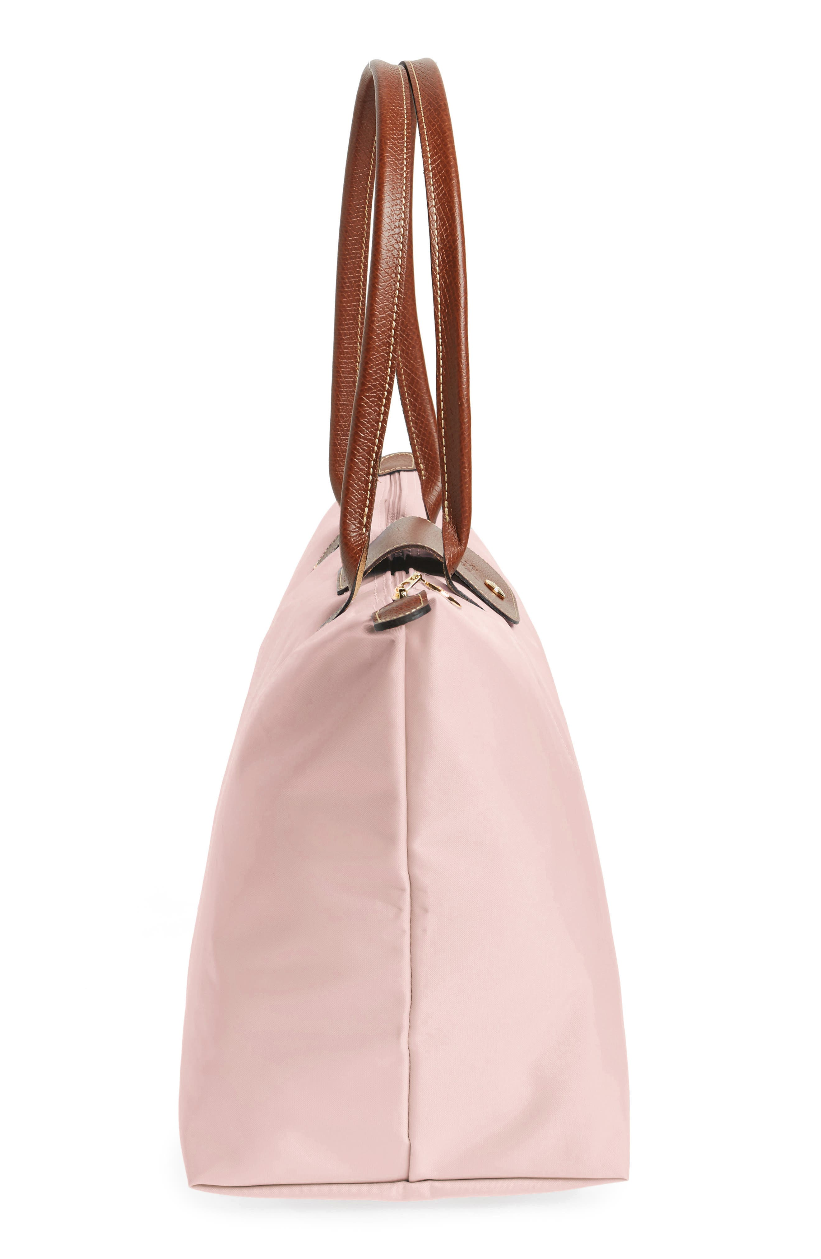 LONGCHAMP, Large Le Pliage Tote, Alternate thumbnail 5, color, PINK ICE
