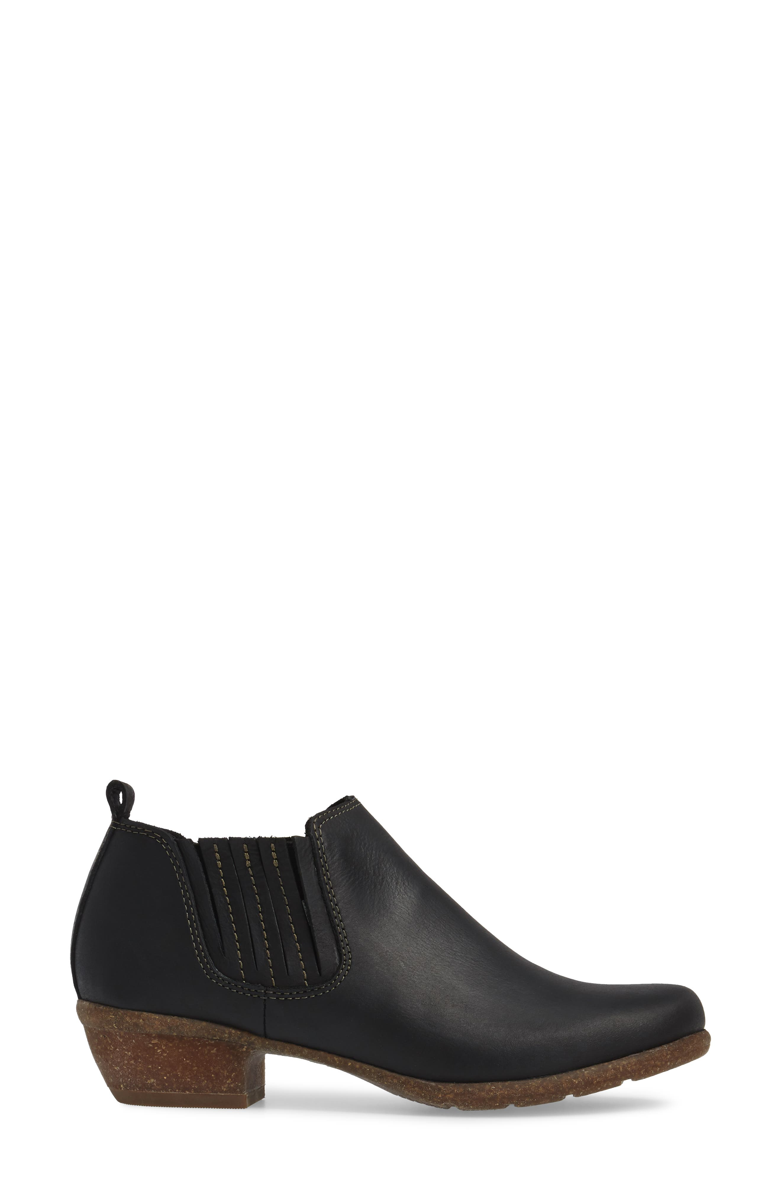 CLARKS<SUP>®</SUP>, Wilrose Jade Low Chelsea Bootie, Alternate thumbnail 3, color, 001