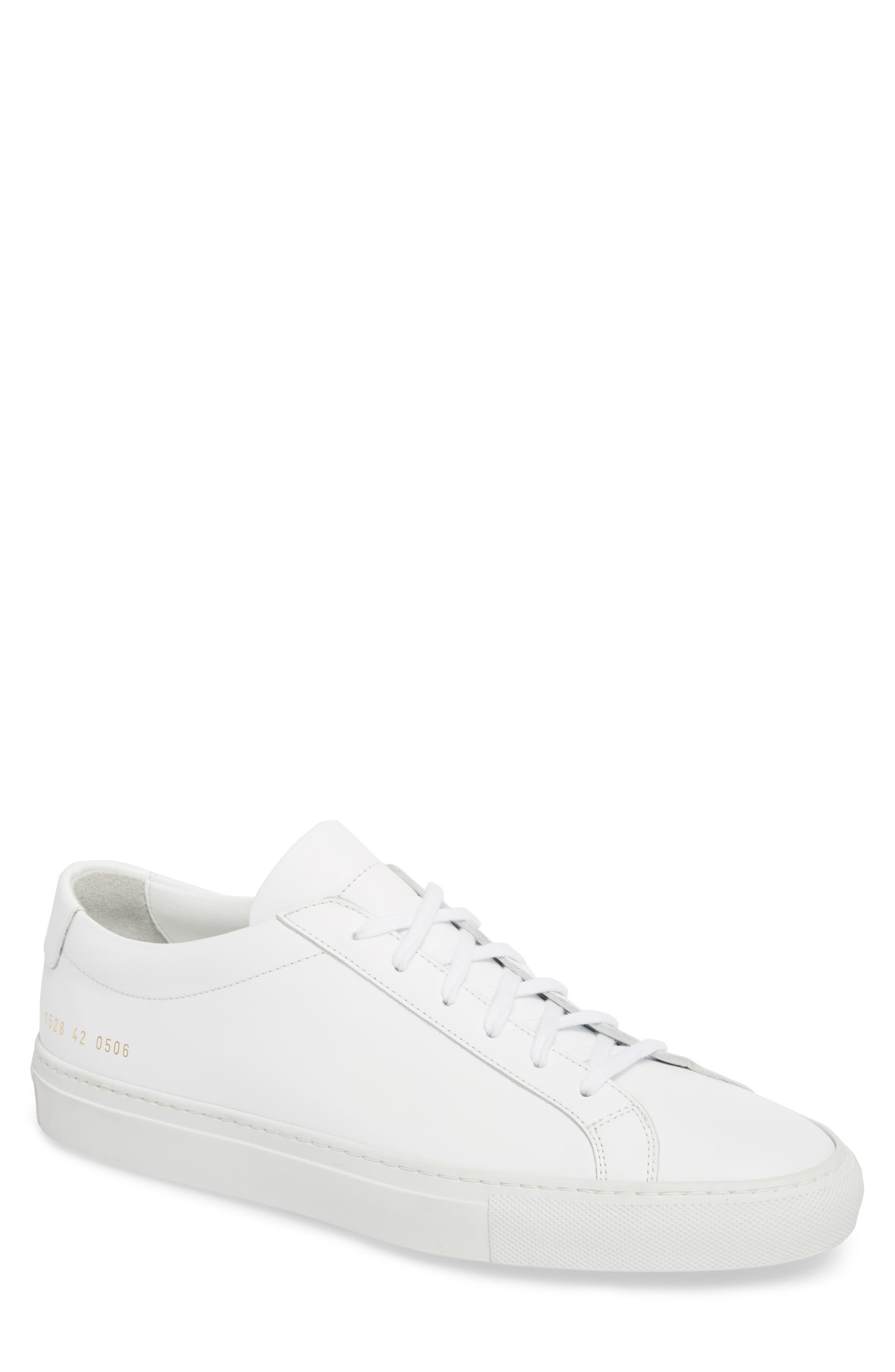 COMMON PROJECTS, Original Achilles Sneaker, Main thumbnail 1, color, WHITE
