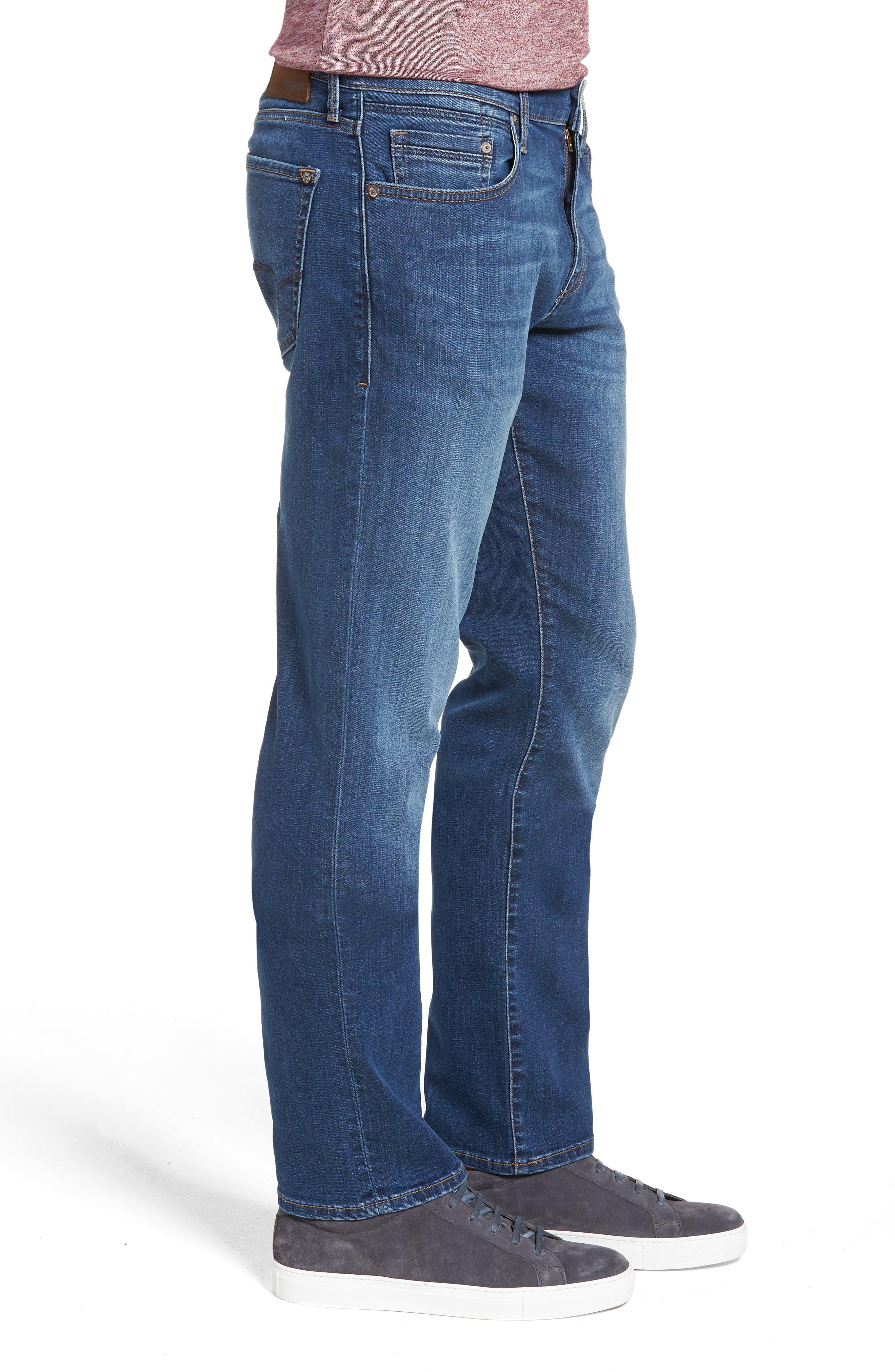 MAVI JEANS, Zach Straight Leg Jeans, Alternate thumbnail 4, color, DARK USED CAPITOL HILL