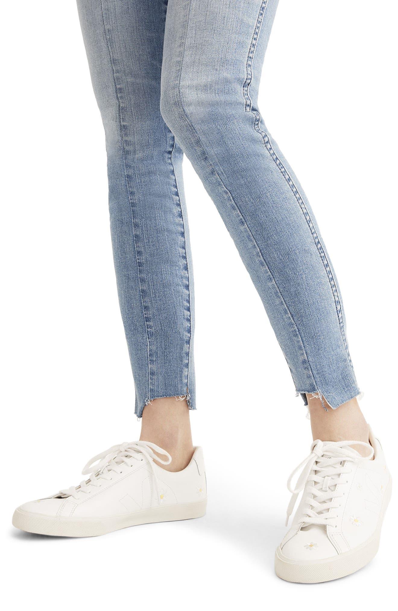 MADEWELL, 9-Inch High Waist Seamed Step-Hem Edition Skinny Jeans, Alternate thumbnail 6, color, 400
