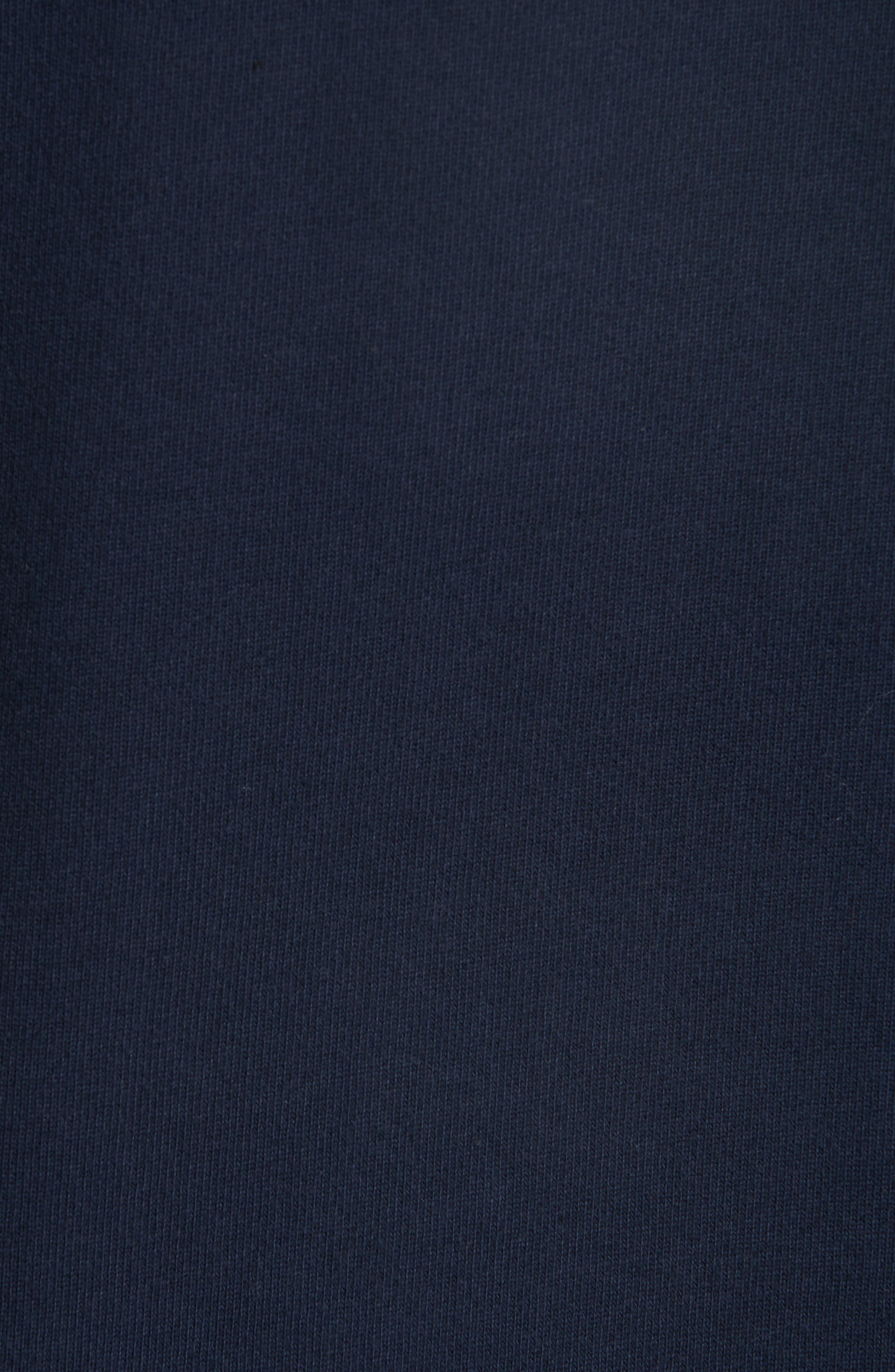 A.P.C., New Logo Crewneck Sweatshirt, Alternate thumbnail 5, color, IAK NAVY