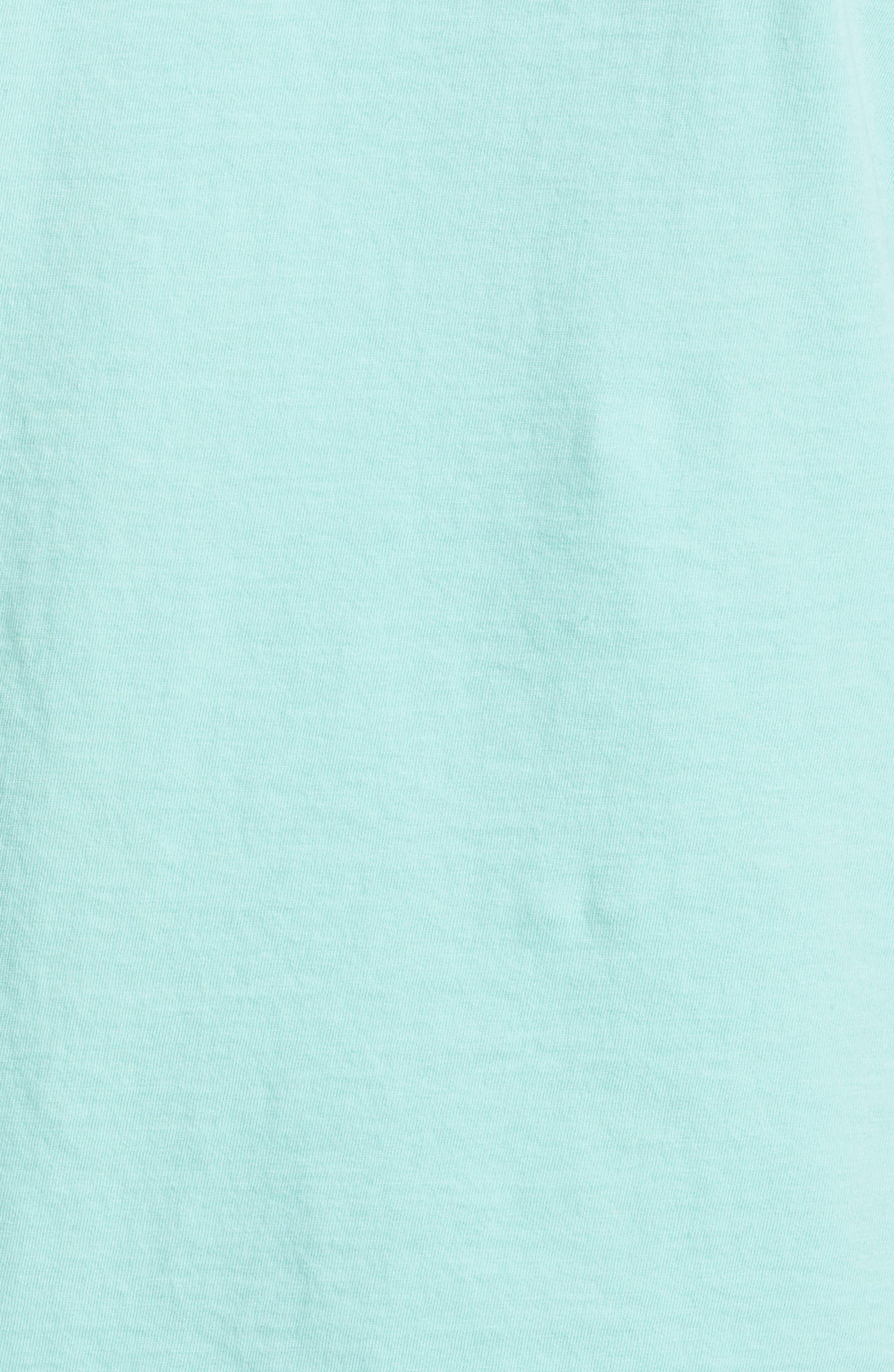 UNDERCOVER, Rabbit Print Tee, Alternate thumbnail 5, color, B PALE GREEN
