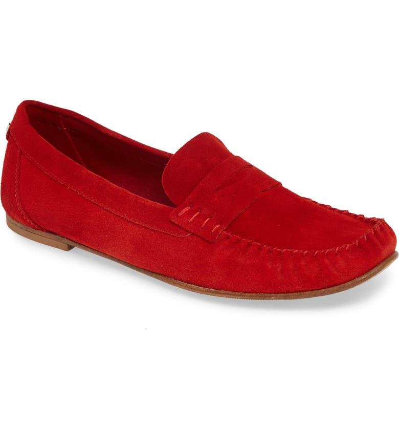 38fb30307cc Aquatalia Lesley Weatherproof Loafer In Red