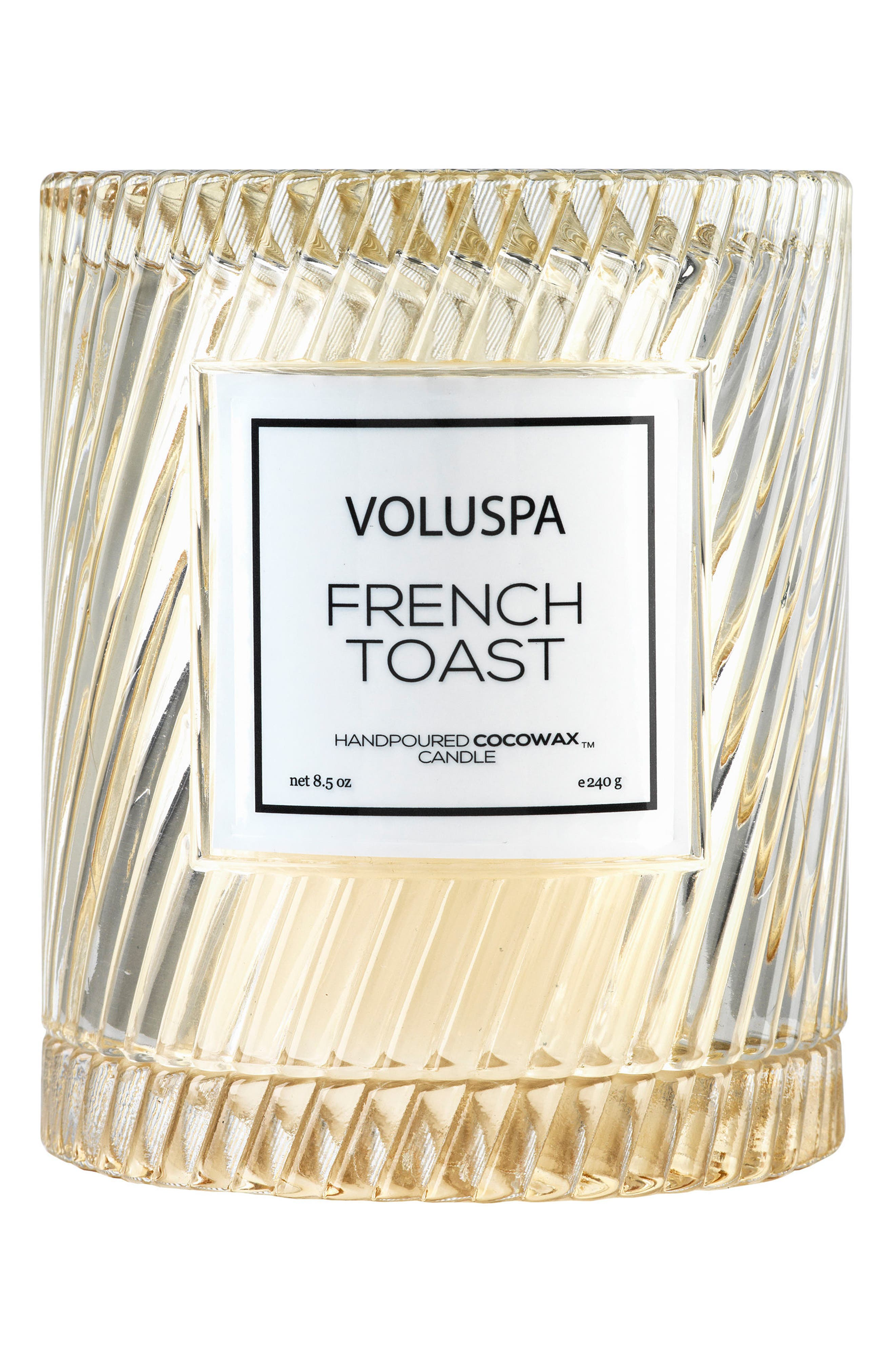 VOLUSPA, Macaron Icon Cloche Cover Candle, Main thumbnail 1, color, FRENCH TOAST