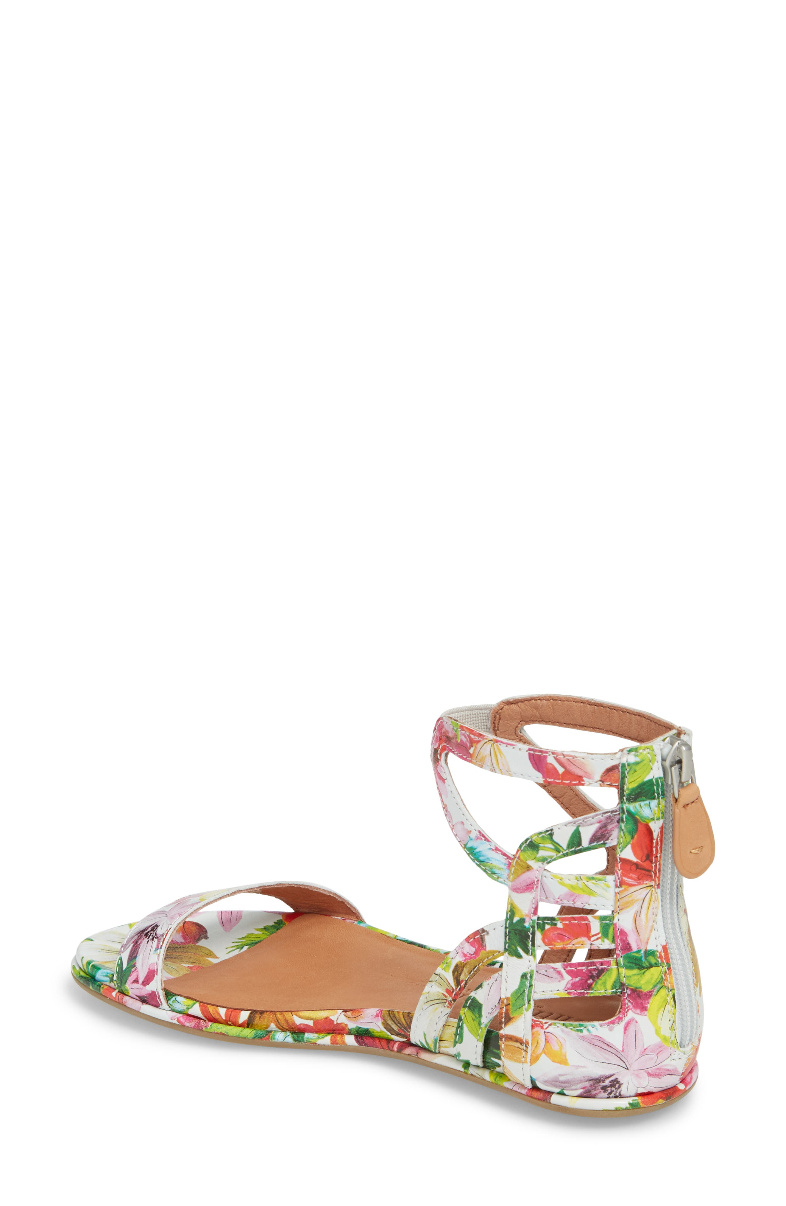 GENTLE SOULS BY KENNETH COLE, Larissa Sandal, Alternate thumbnail 2, color, PALM PRINTED LEATHER