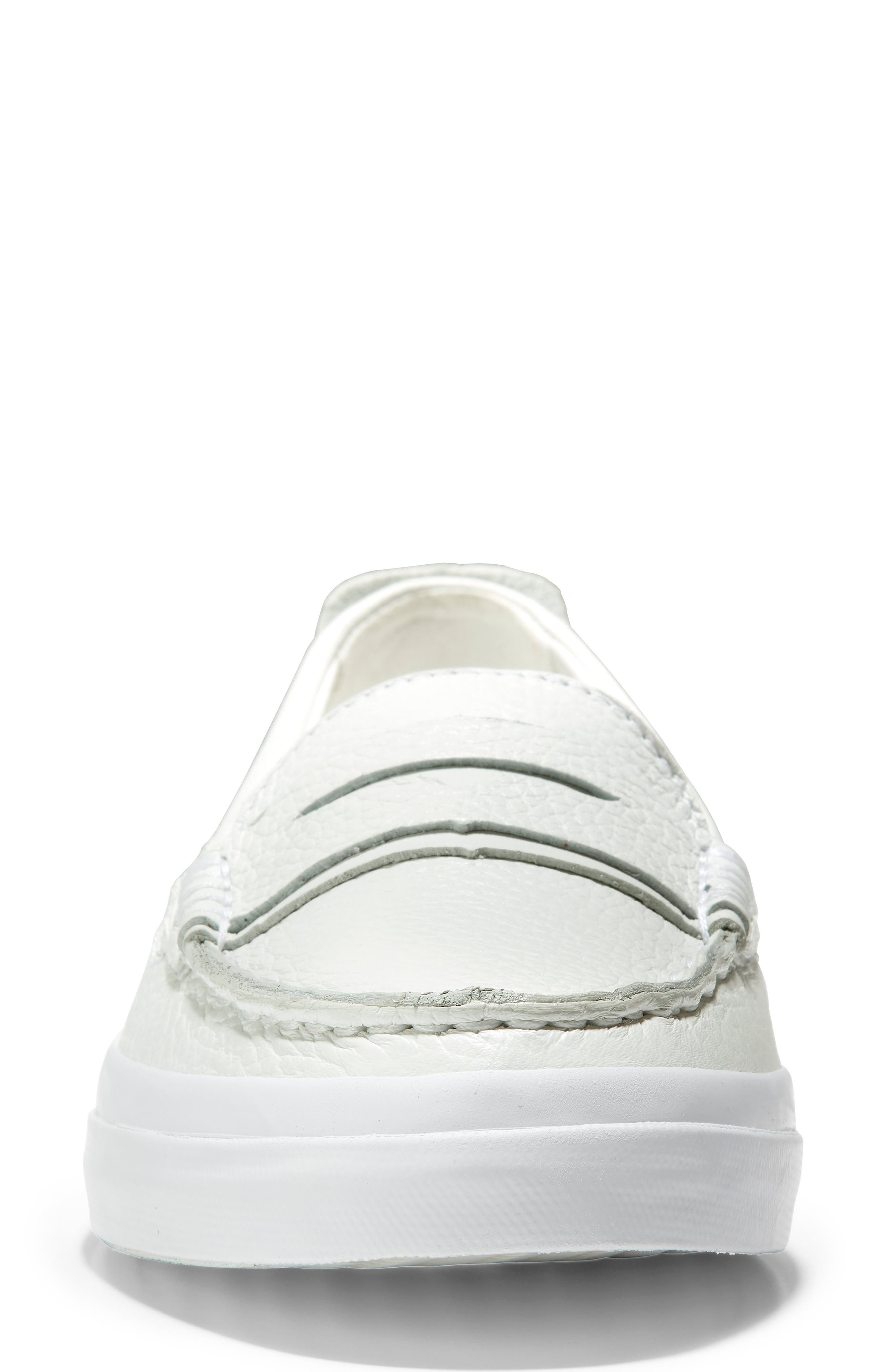 COLE HAAN, Pinch LX Loafer, Alternate thumbnail 4, color, OPTIC WHITE LEATHER