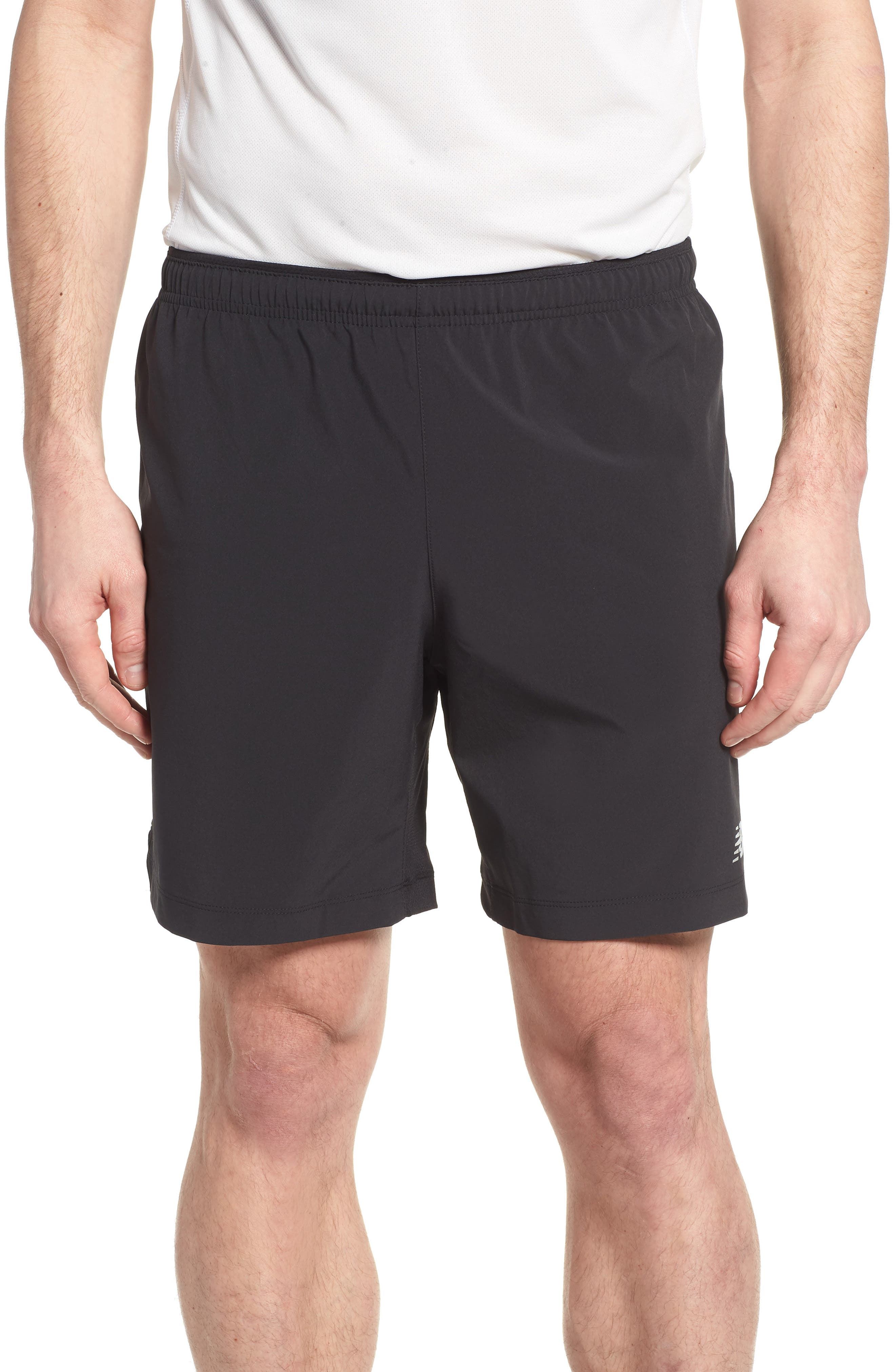 NEW BALANCE Impact Shorts, Main, color, BLACK