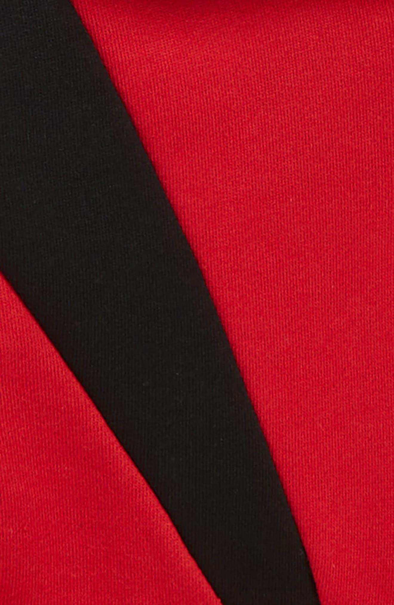 JORDAN, Flight 5 Hooded Sweatshirt, Alternate thumbnail 2, color, GYM RED