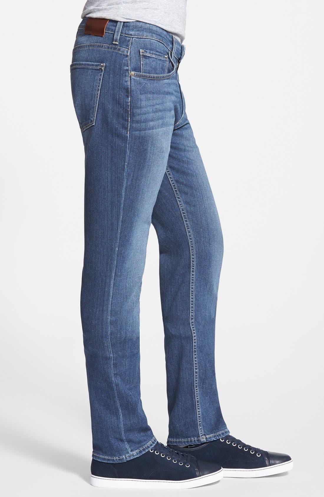 PAIGE, Transcend - Federal Slim Straight Leg Jeans, Alternate thumbnail 10, color, BIRCH