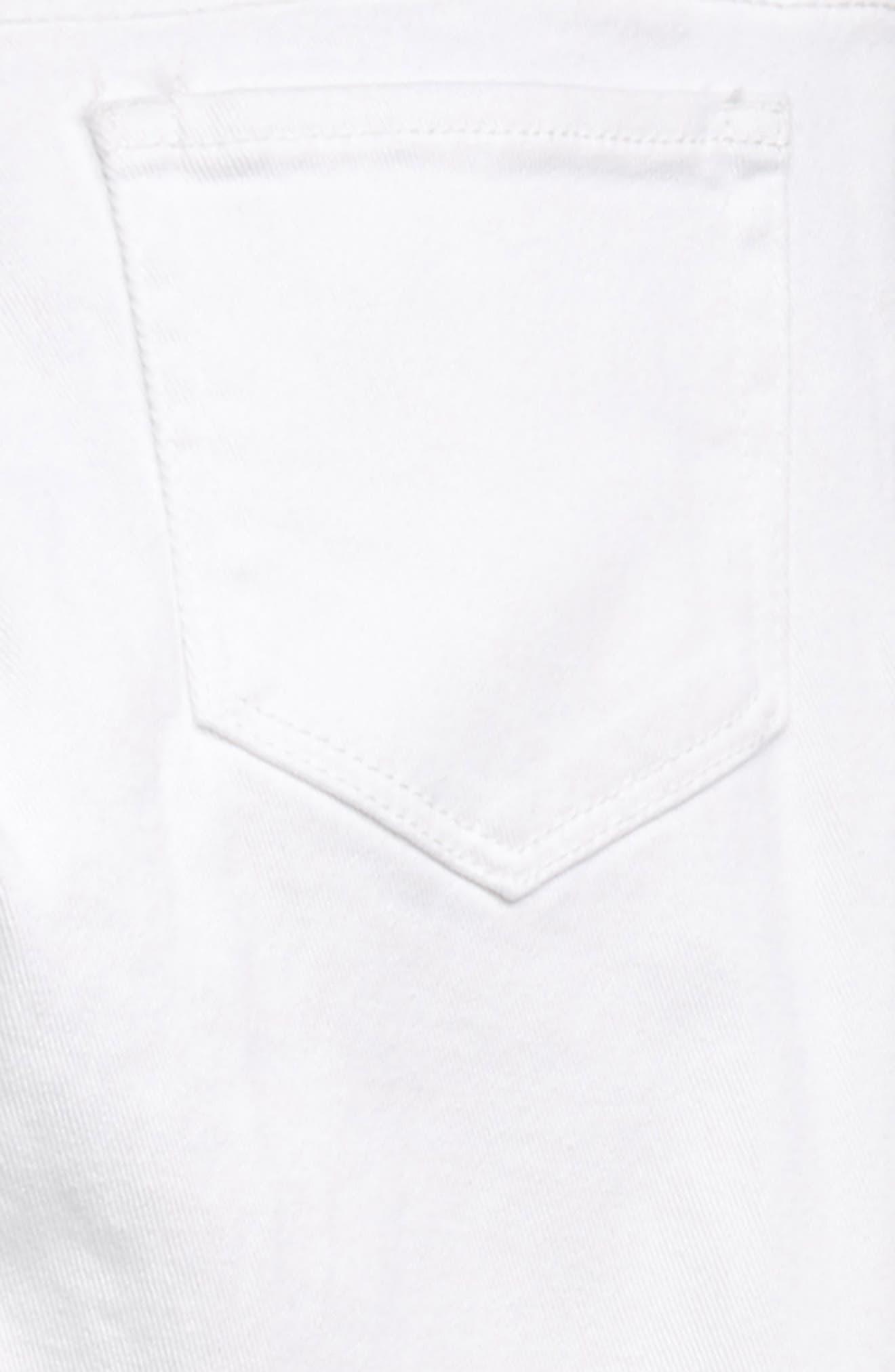 TREASURE & BOND, Distressed Skinny Jeans, Alternate thumbnail 3, color, WHITE