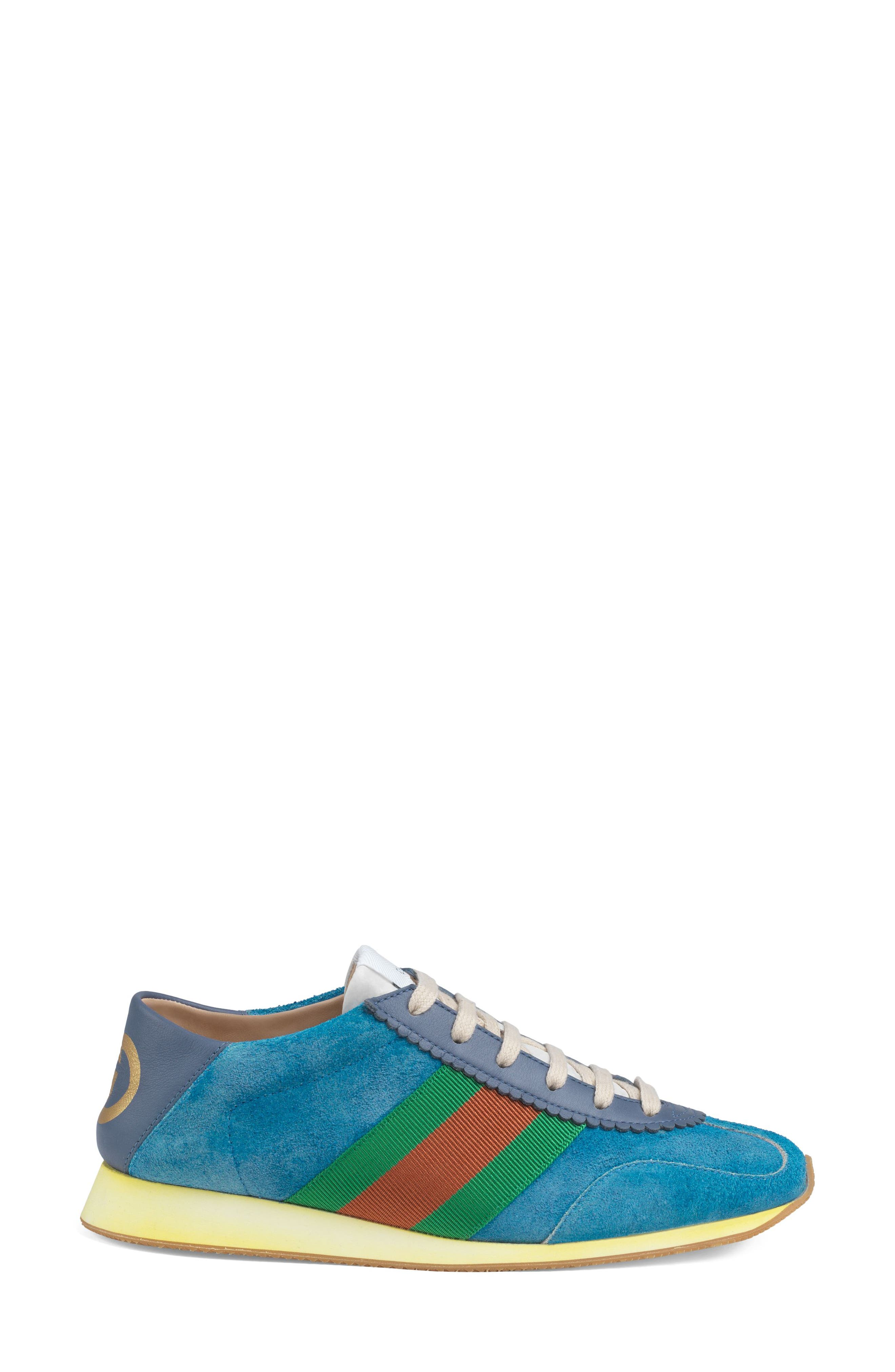 GUCCI, Rocket Convertible Sneaker, Alternate thumbnail 2, color, BLUE