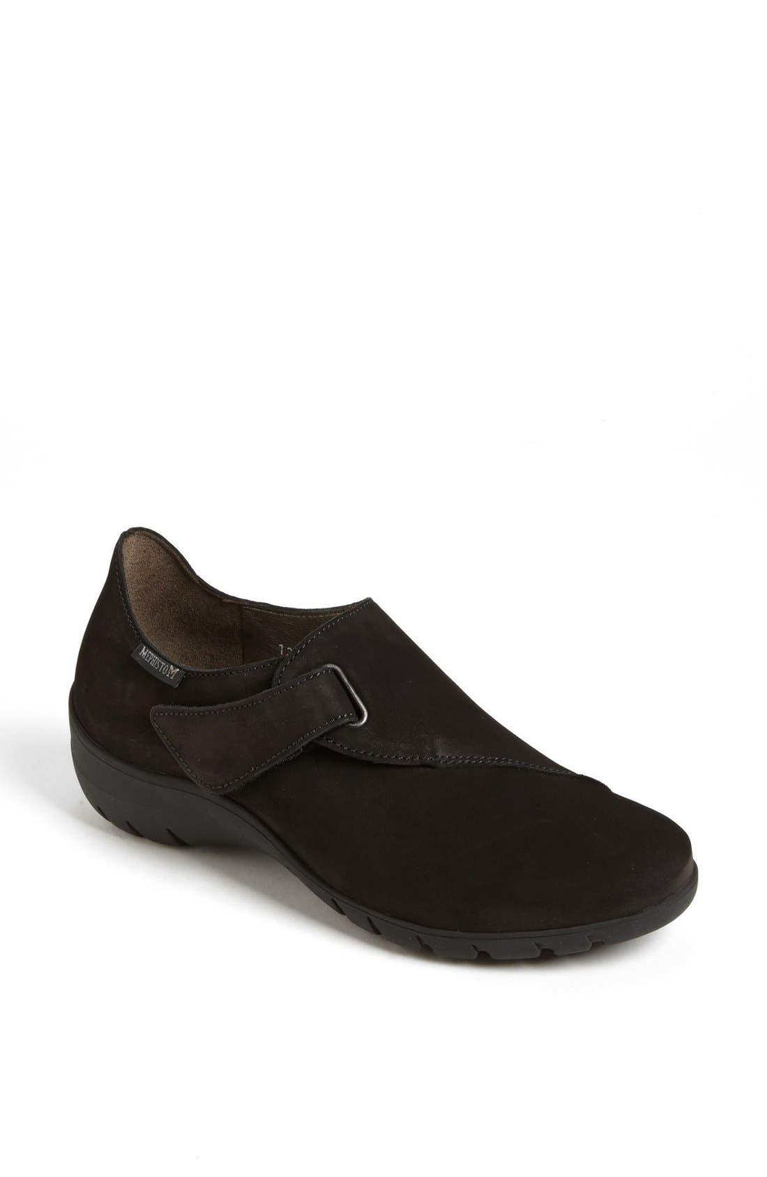 MEPHISTO, 'Luce' Sneaker, Main thumbnail 1, color, BLACK BUCKSOFT
