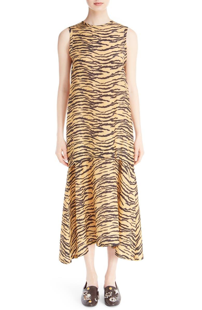 be2662e5e6cf9 TOGA Sleeveless Tiger Print Maxi Dress, Main, color, 280