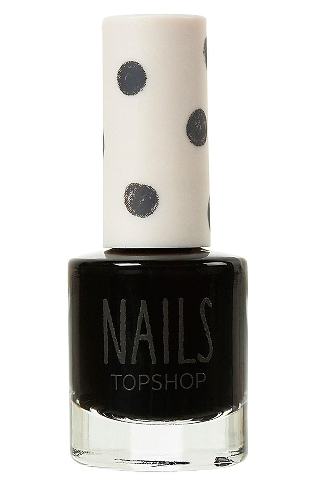TOPSHOP, 'Cream' Nail Polish, Main thumbnail 1, color, 001