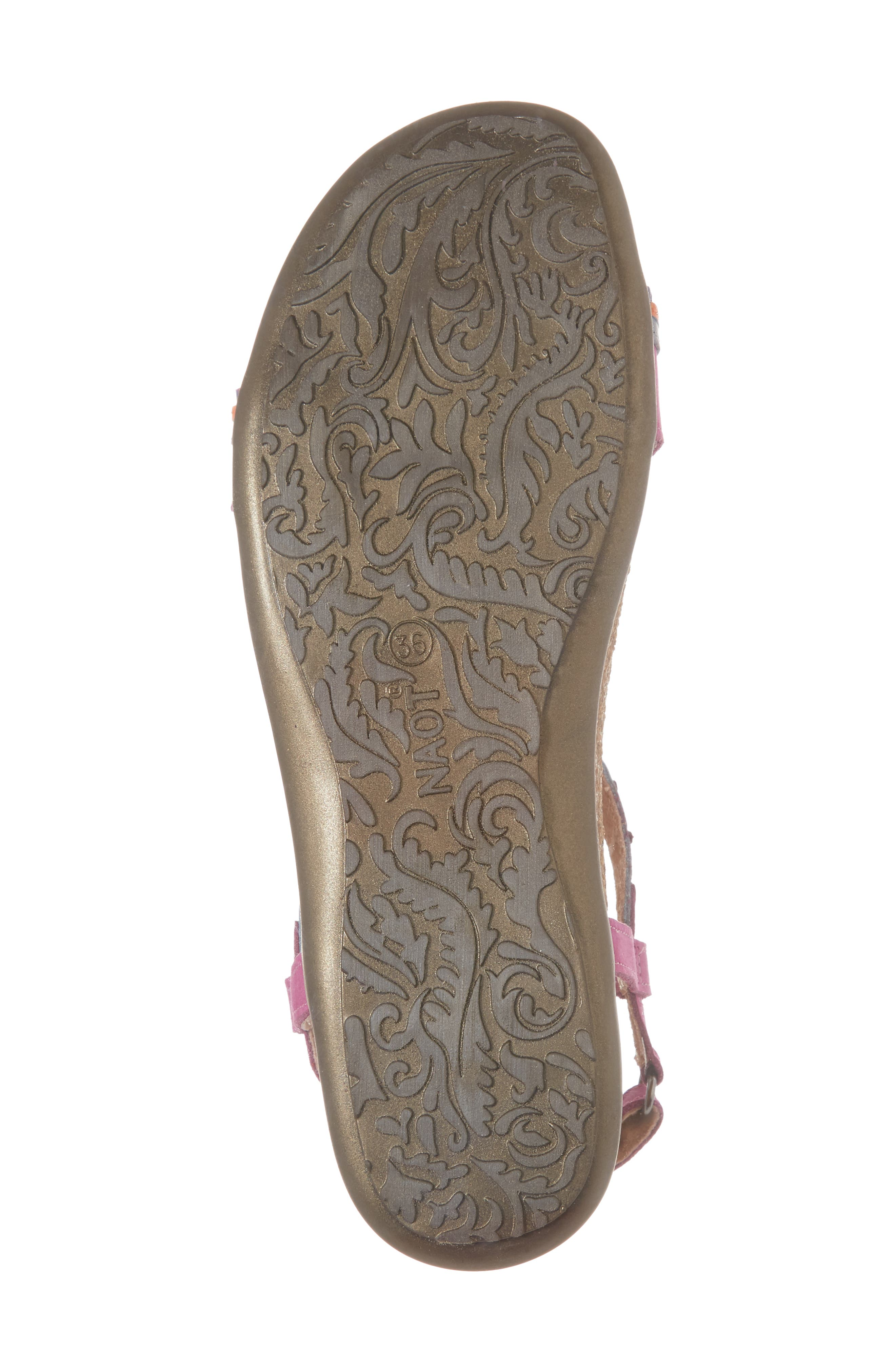 NAOT, Odelia Perforated T-Strap Sandal, Alternate thumbnail 6, color, PINK PLUM NUBUCK