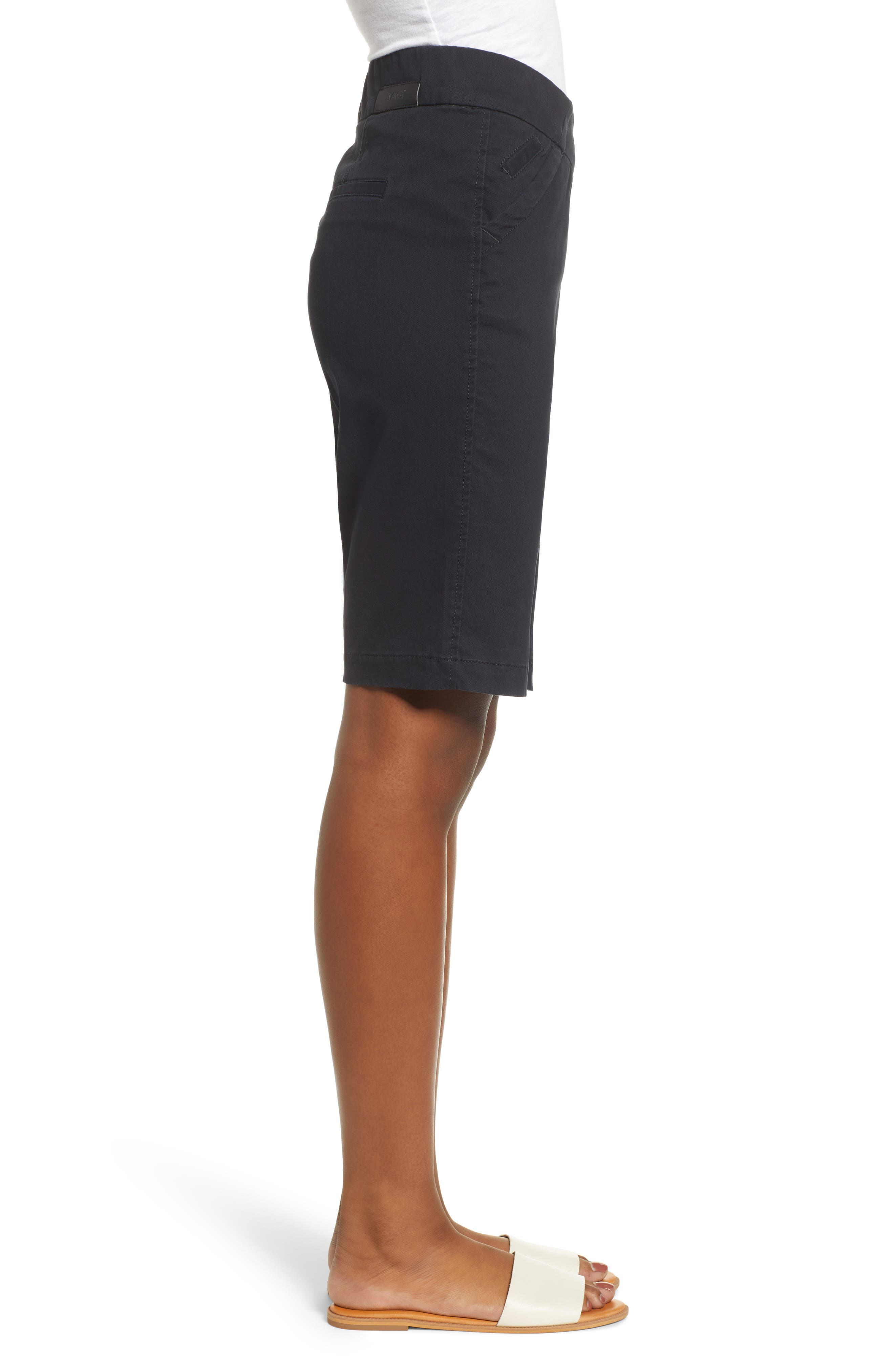 JAG JEANS, Gracie Bermuda Shorts, Alternate thumbnail 4, color, BLACK