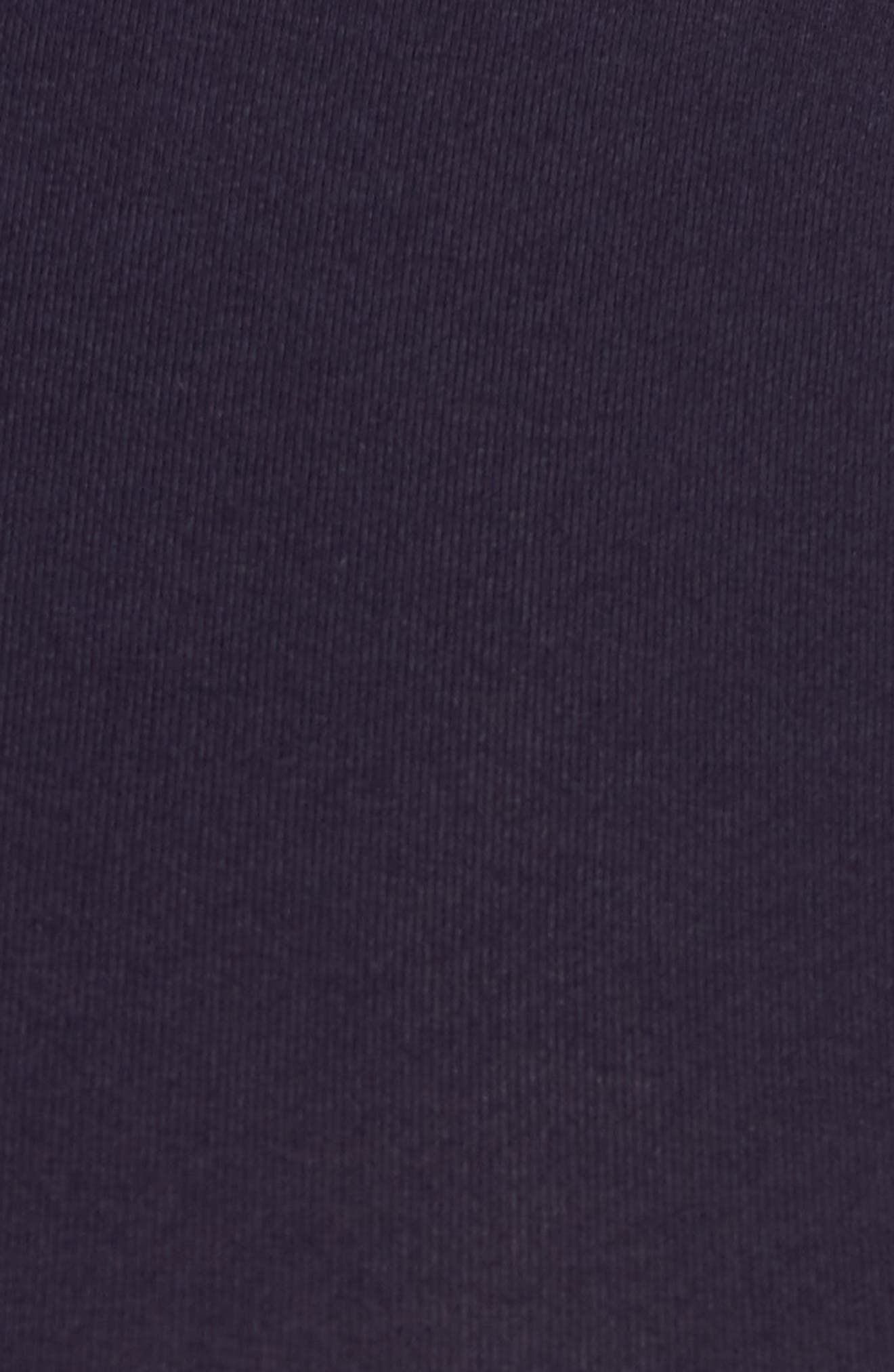 ISABELLA OLIVER, 'Poppy' Ruched Surplice Maternity Top, Alternate thumbnail 5, color, DARKEST NAVY