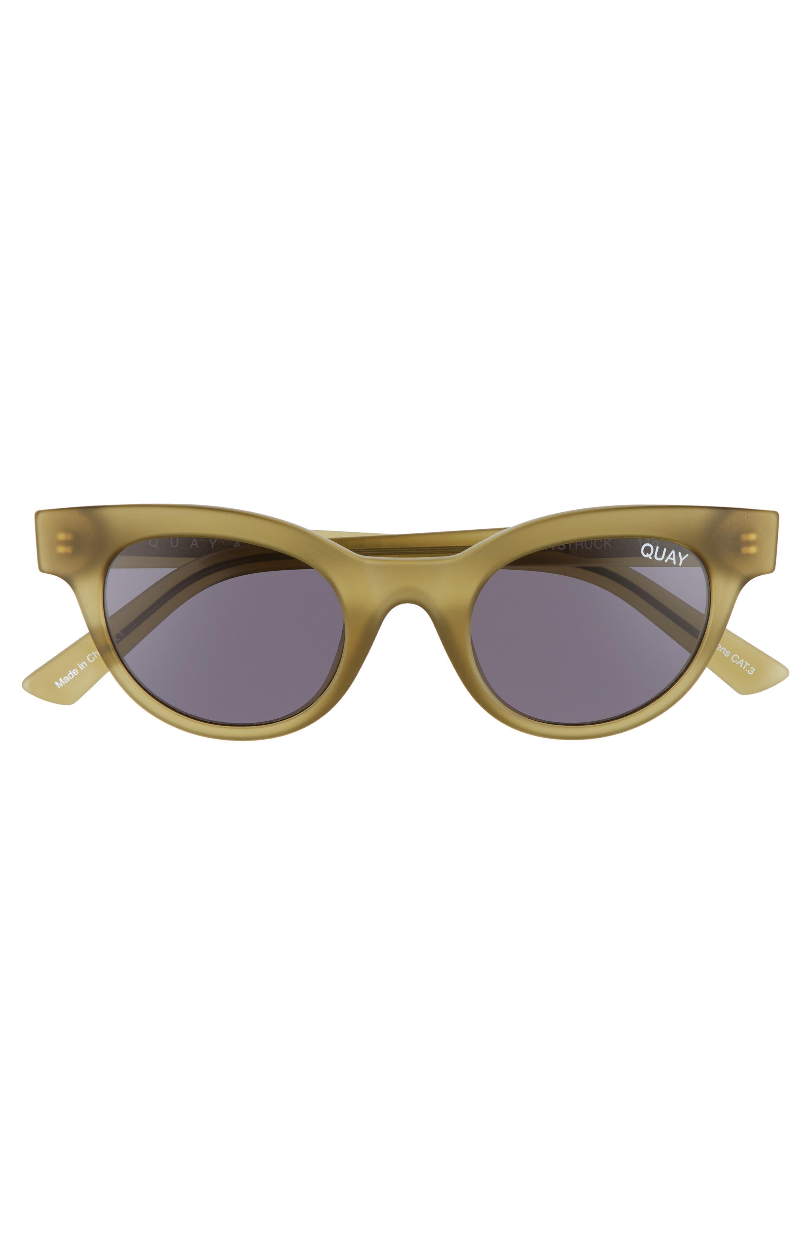 QUAY AUSTRALIA, Starstruck 48mm Cat Eye Sunglasses, Alternate thumbnail 3, color, 300