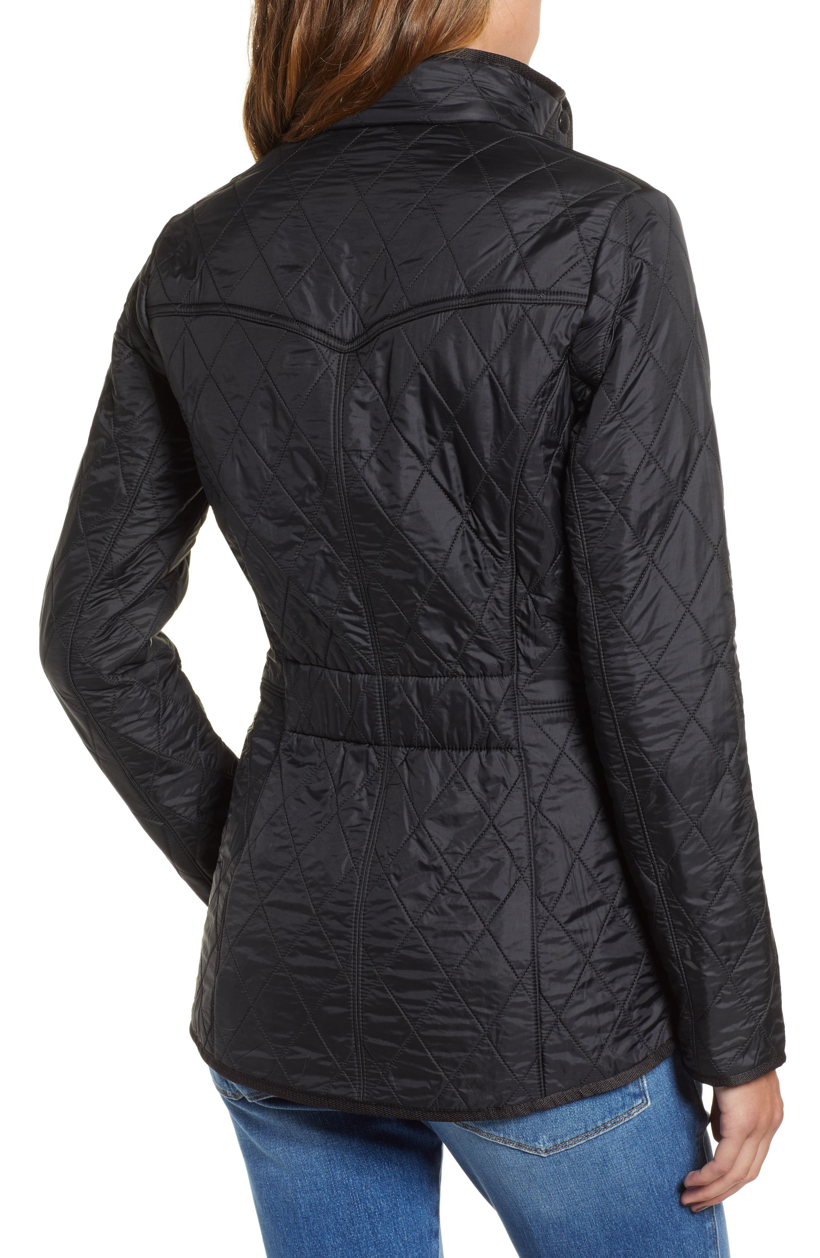 BARBOUR, 'Cavalry' Quilted Jacket, Alternate thumbnail 2, color, 001