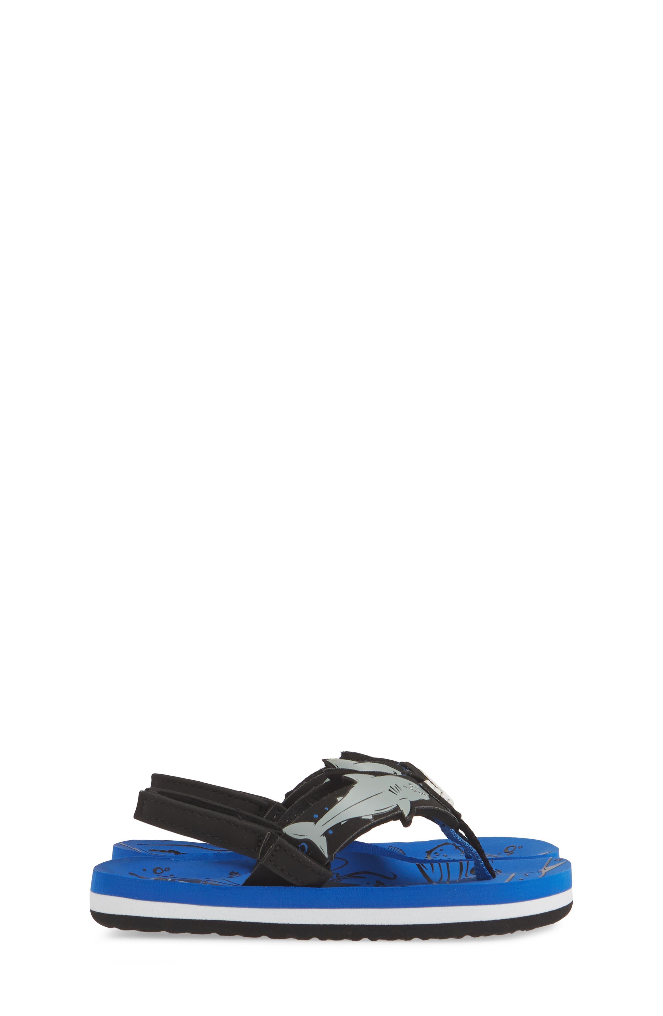 REEF, Ahi Shark Flip Flop, Alternate thumbnail 4, color, BLUE