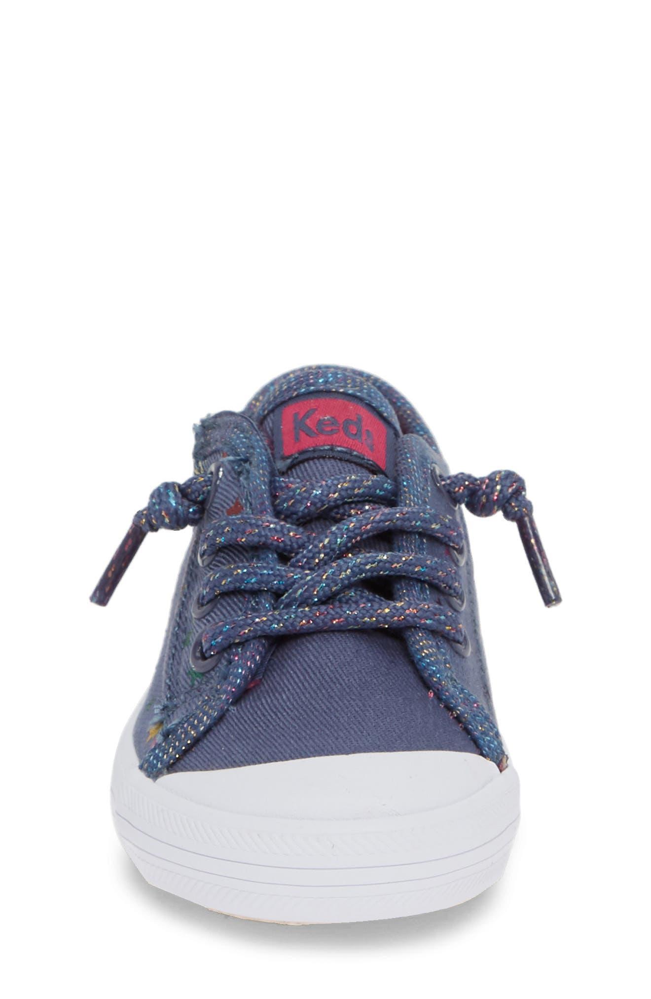 KEDS<SUP>®</SUP>, Kickstart Cap Toe Sneaker, Alternate thumbnail 4, color, STAR PERF