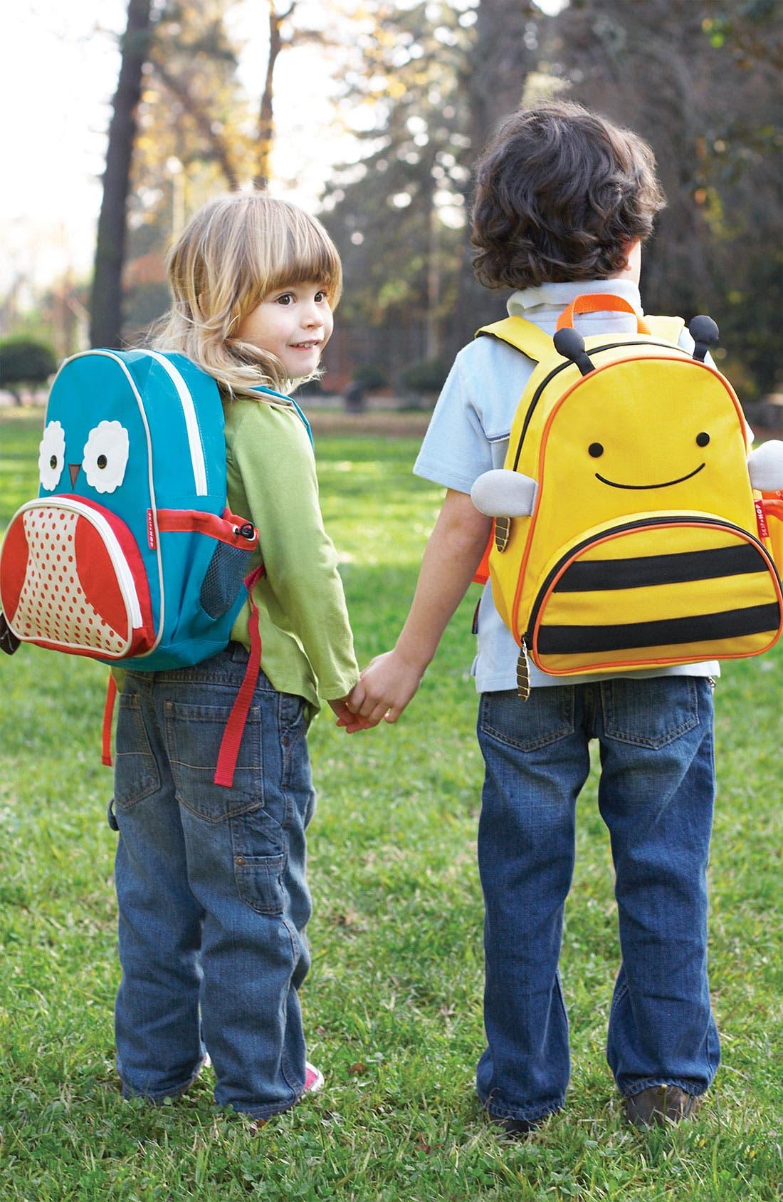 SKIP HOP, Owl Zoo Pack Backpack, Alternate thumbnail 5, color, BLUE MULTI
