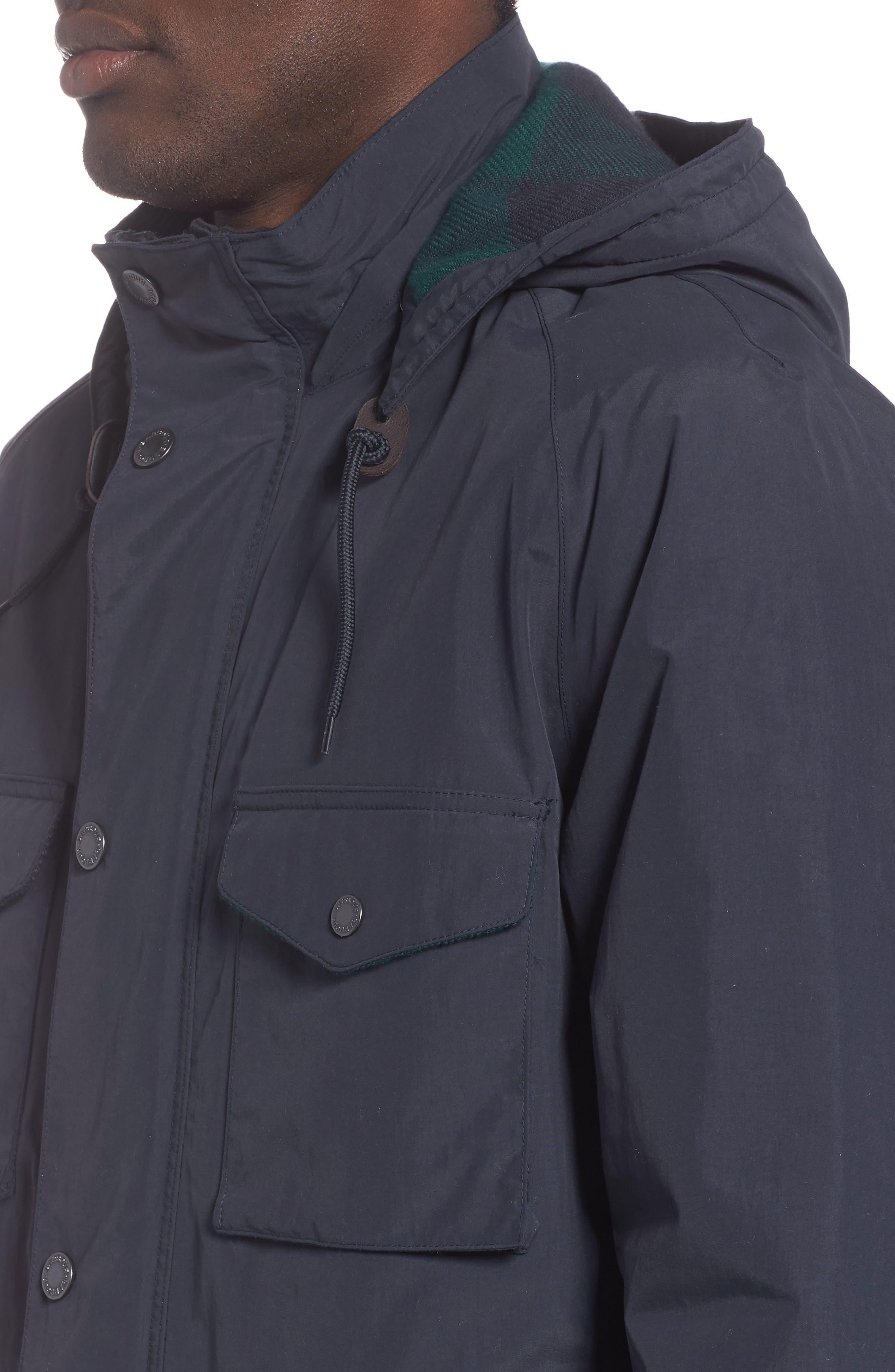 BARBOUR, Tiree Waterproof Jacket, Alternate thumbnail 4, color, 410