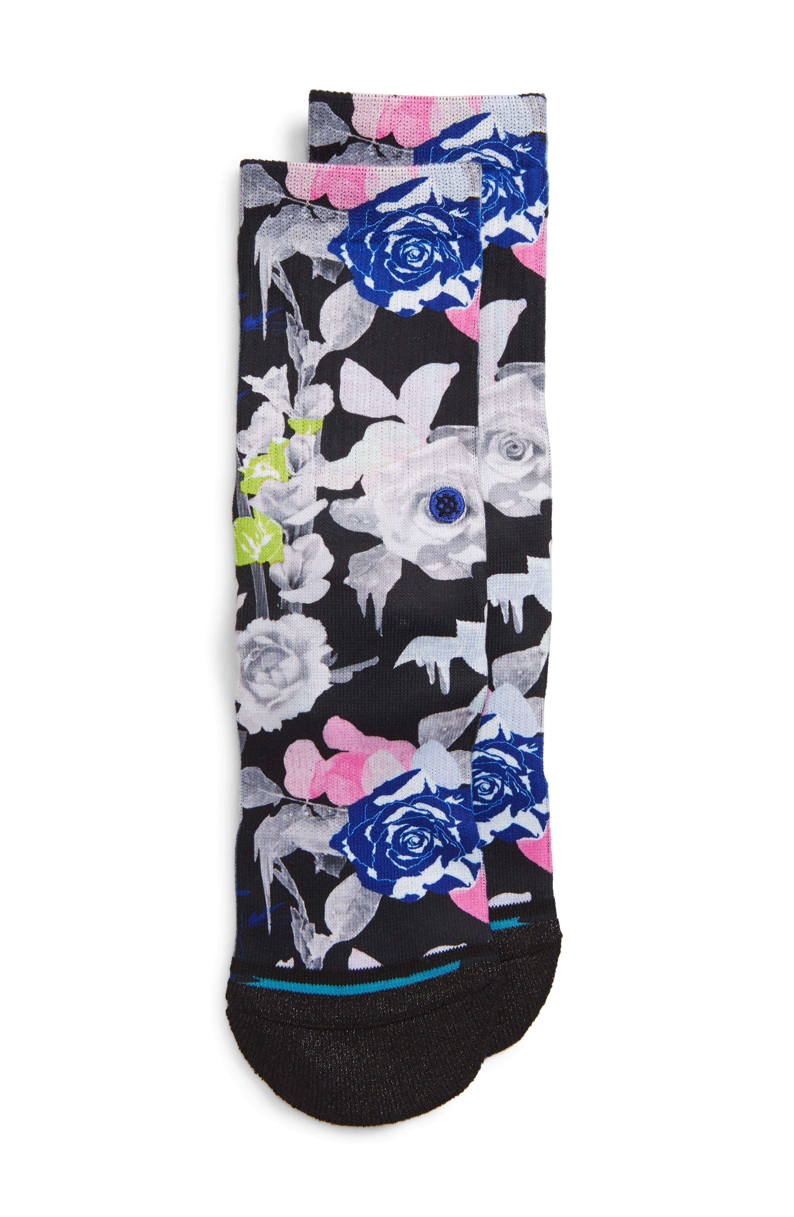 STANCE Le Fleur Socks, Main, color, BLACK