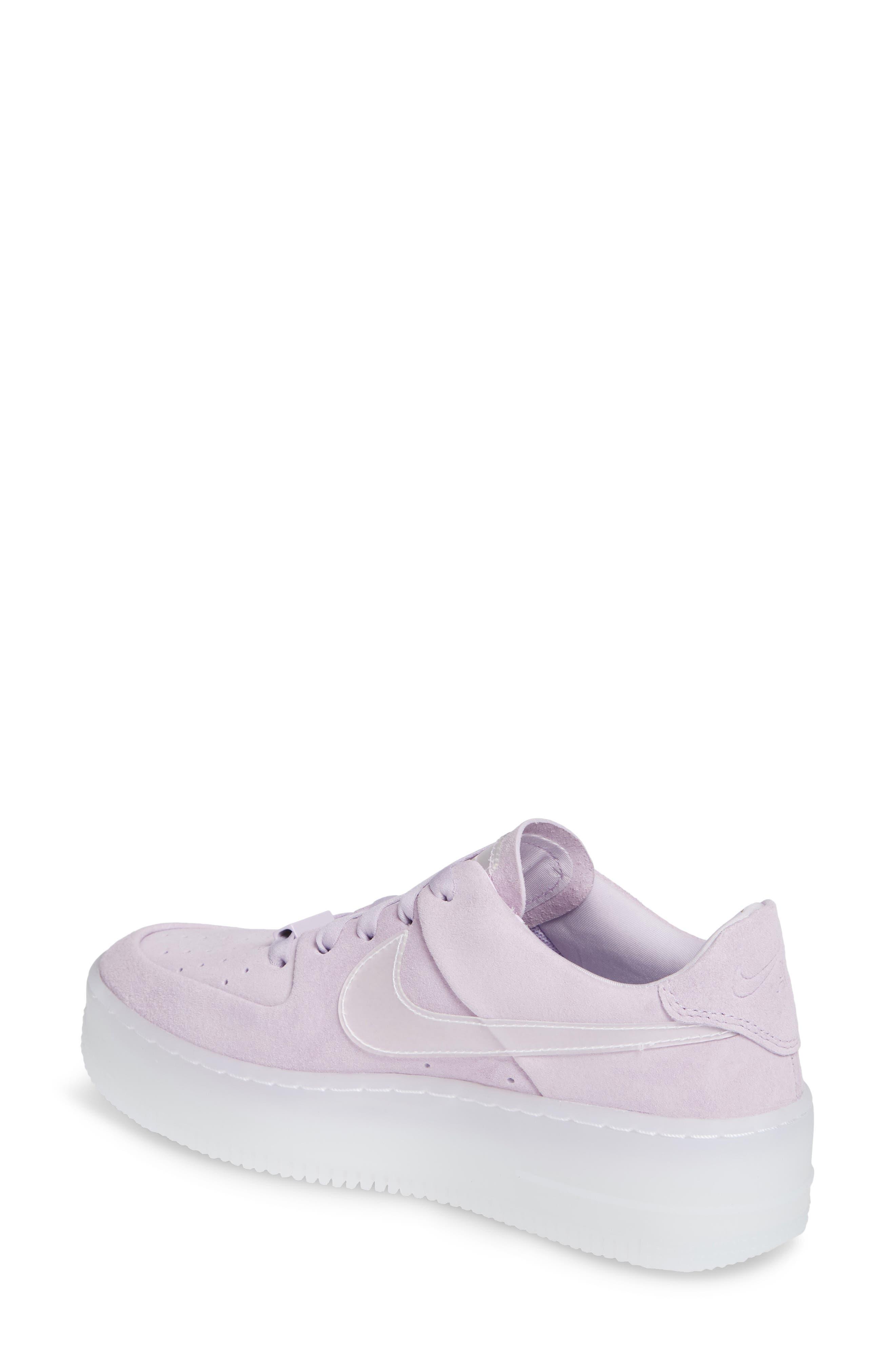NIKE, Air Force 1 Sage Low Platform Sneaker, Alternate thumbnail 2, color, VIOLET MIST/ VIOLET MIST
