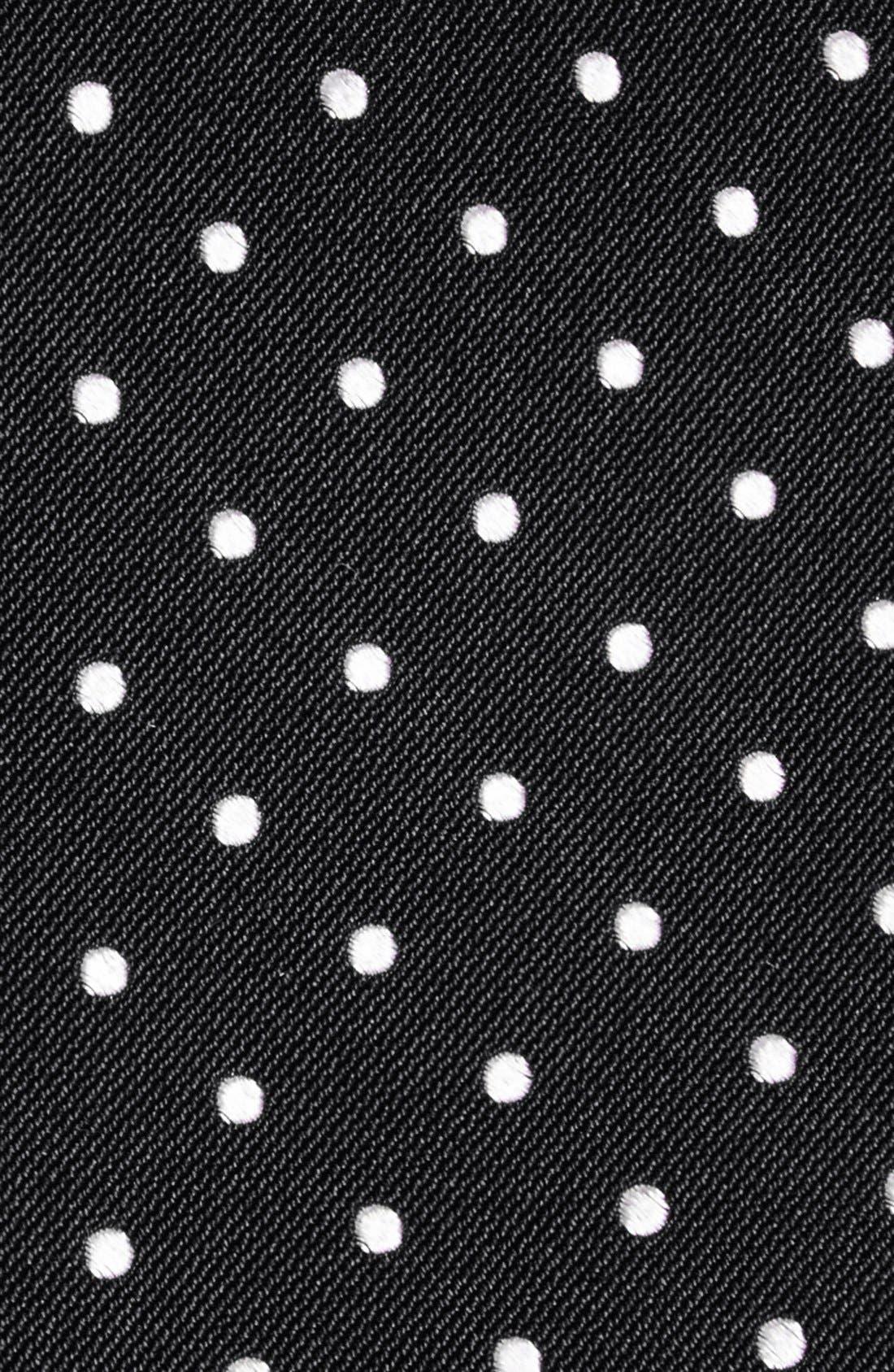 GITMAN, Polka Dot Silk Tie, Alternate thumbnail 2, color, BLACK